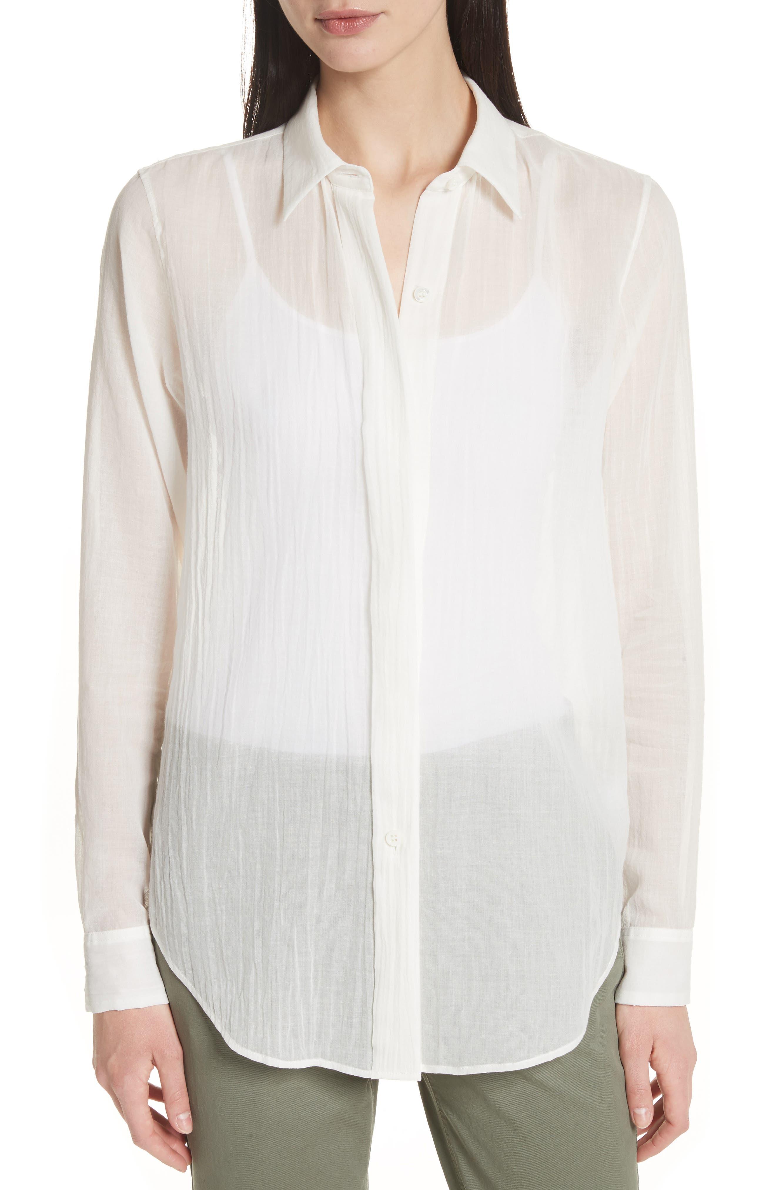 Essential Button-Down Cotton Shirt,                             Main thumbnail 2, color,