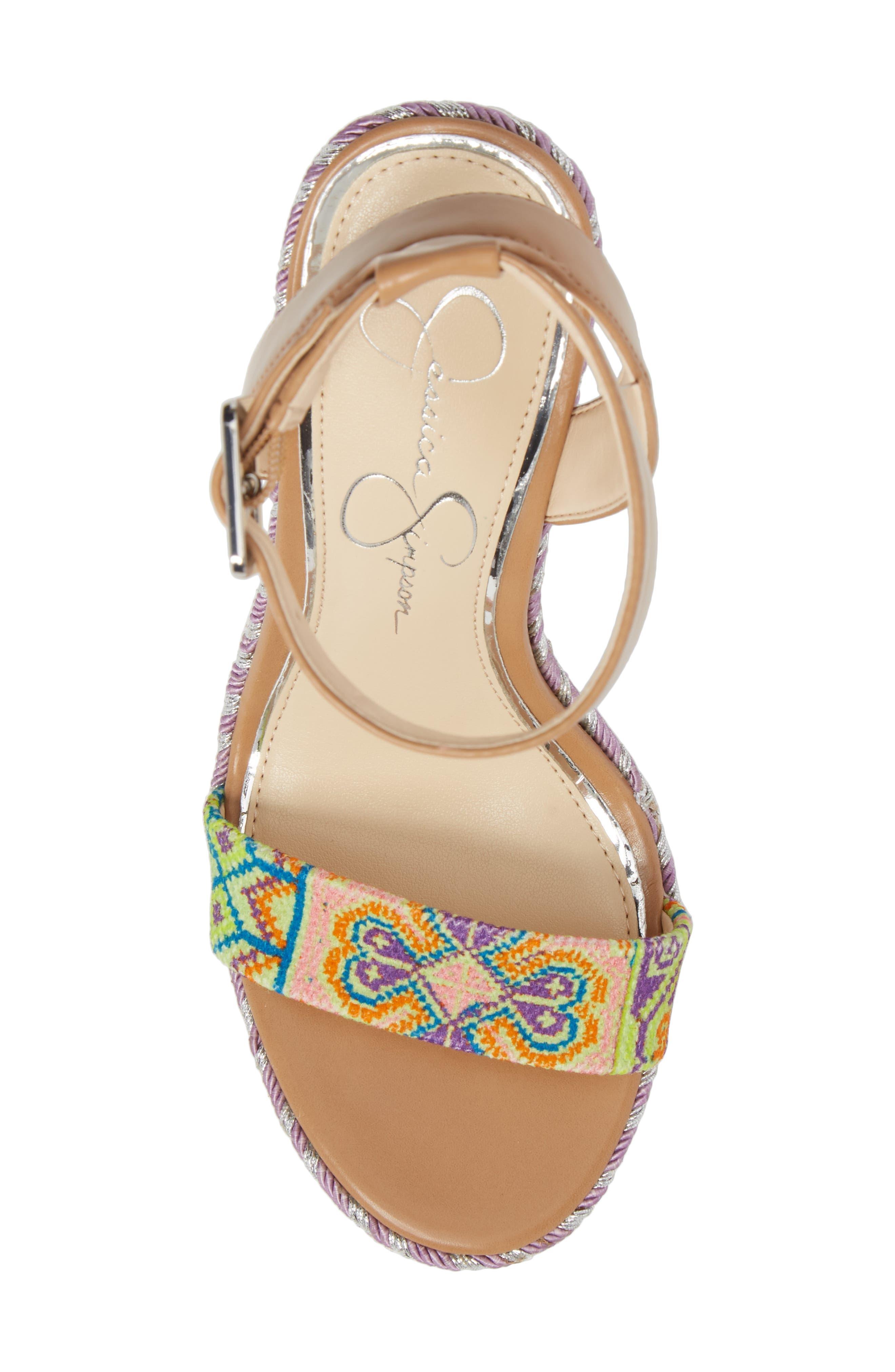 Alinda Embellished Wedge Sandal,                             Alternate thumbnail 5, color,                             320