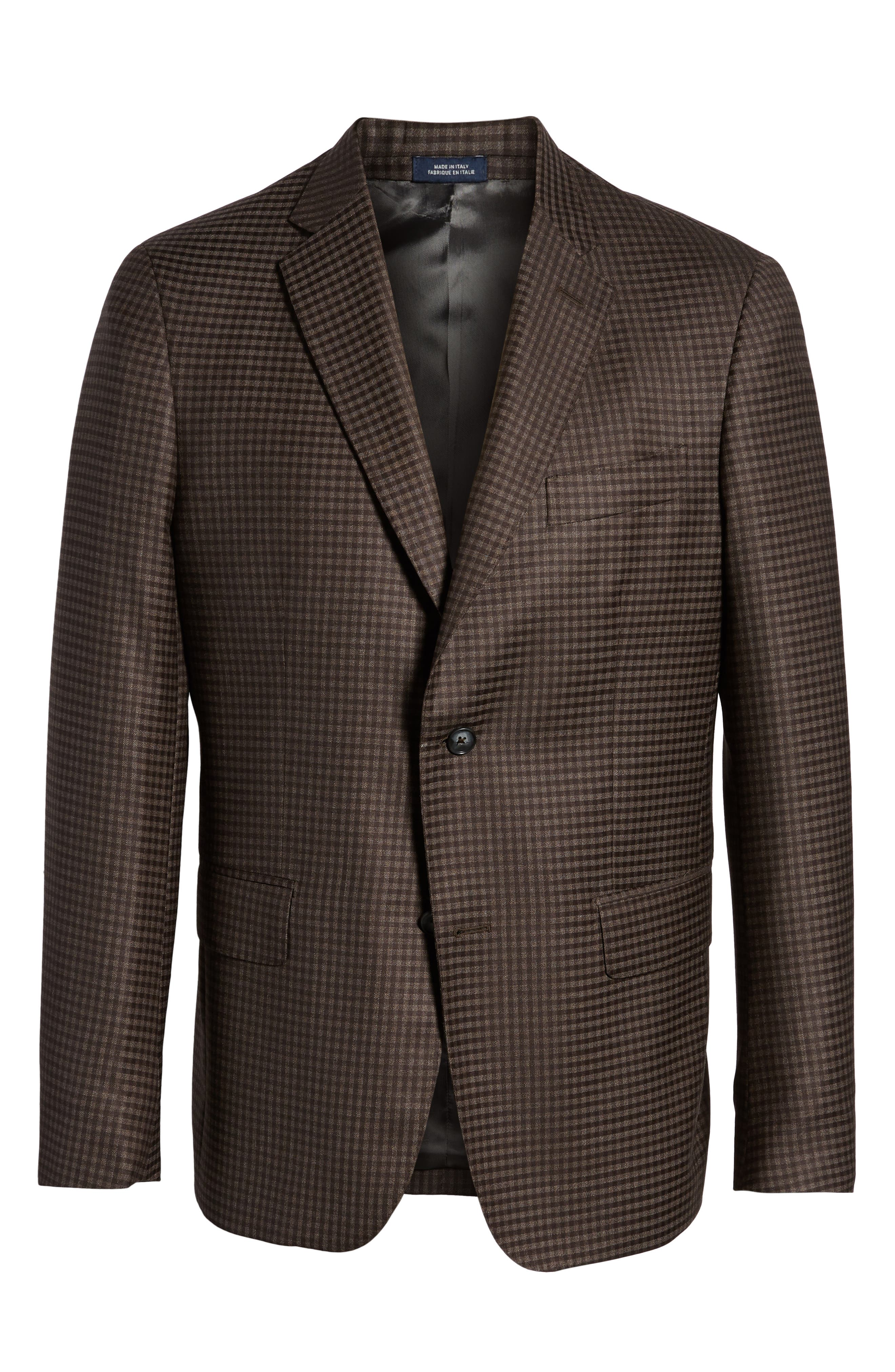 Traditional Fit Check Wool Sport Coat,                             Alternate thumbnail 5, color,                             030
