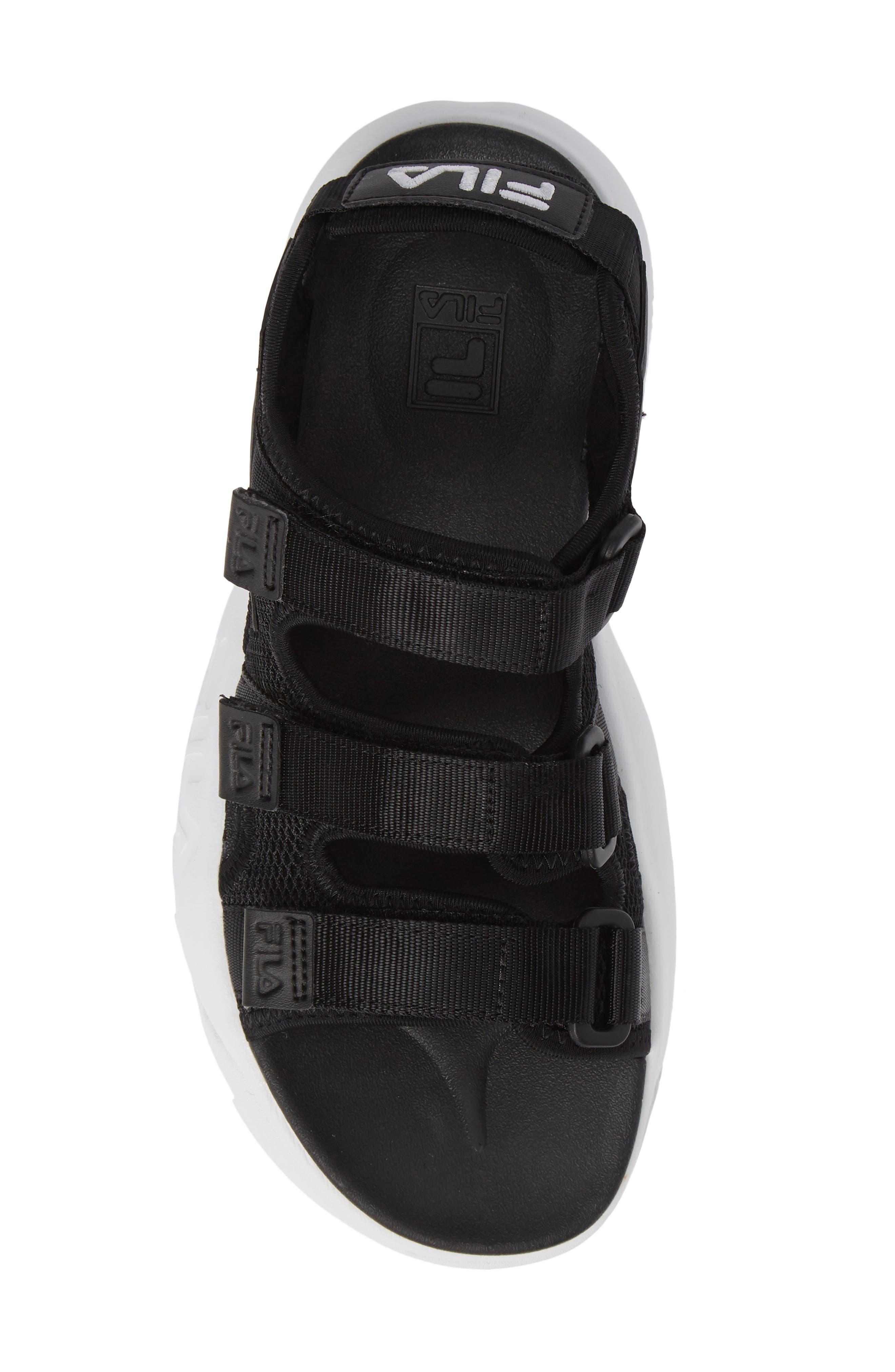 Disruptor Sandal,                             Alternate thumbnail 5, color,                             BLACK/ BLACK/ WHITE