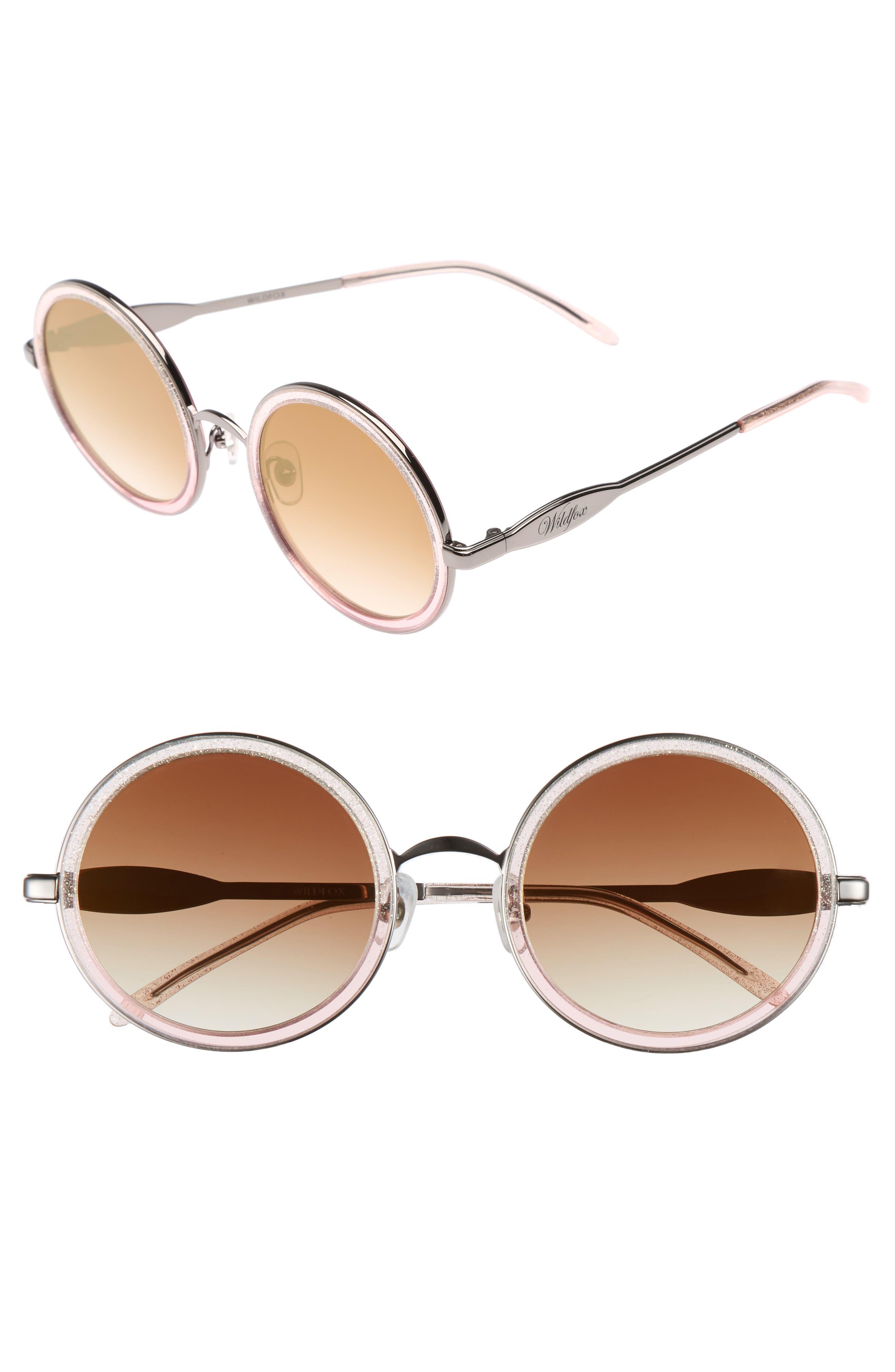 Ryder Zero 49mm Flat Round Sunglasses,                             Main thumbnail 1, color,                             GLITZ