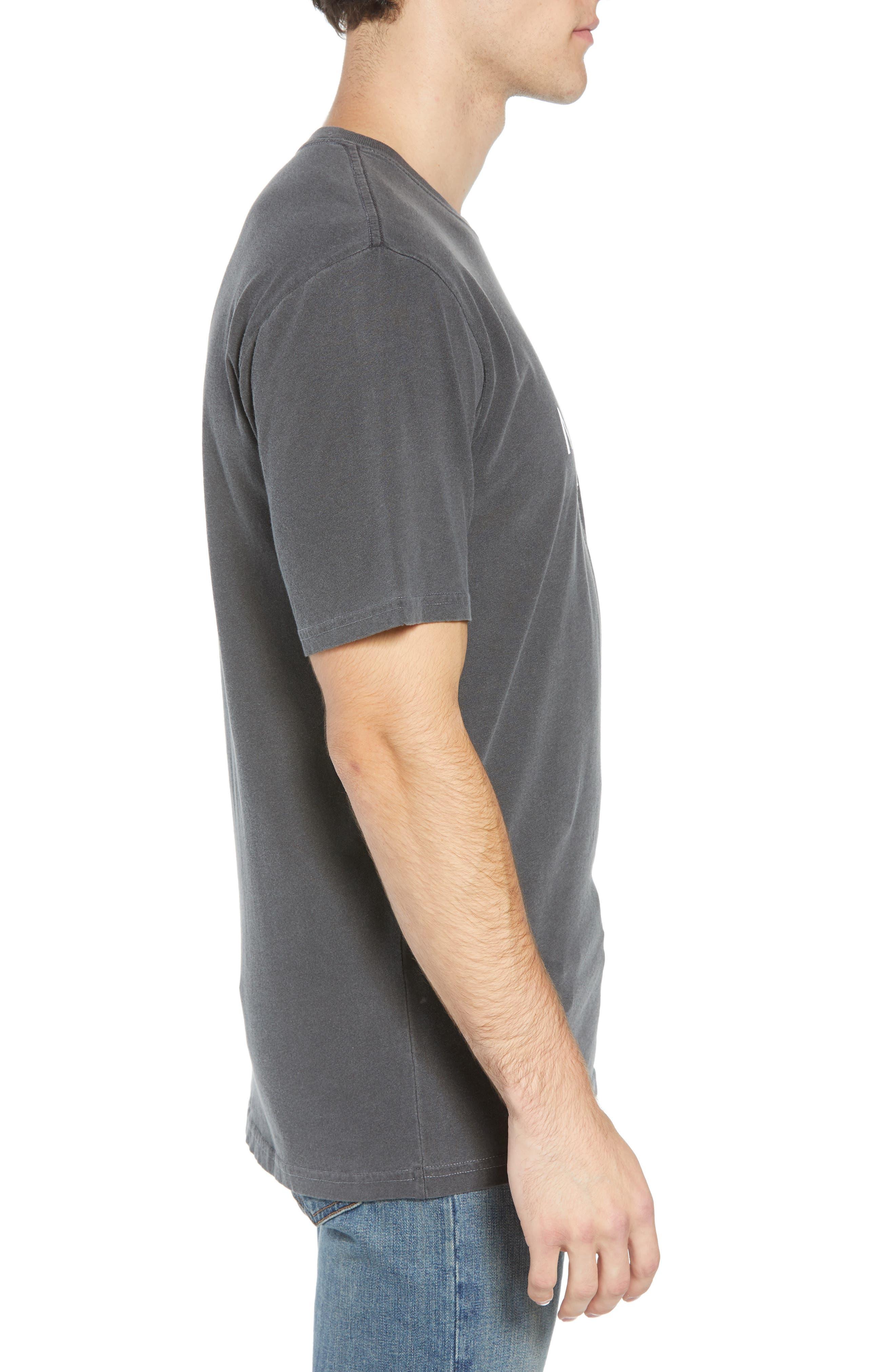 Half Dome Logo T-Shirt,                             Alternate thumbnail 3, color,                             WEATHERED BLACK