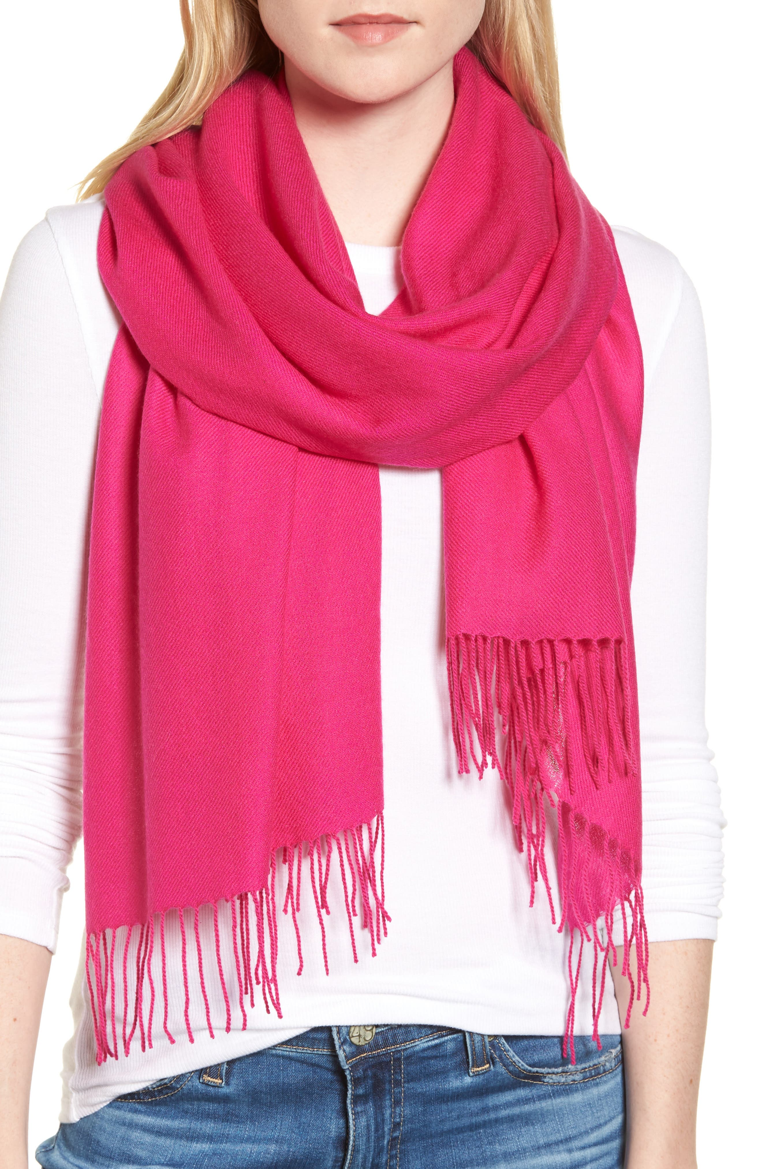 Tissue Weight Wool & Cashmere Scarf,                             Main thumbnail 10, color,
