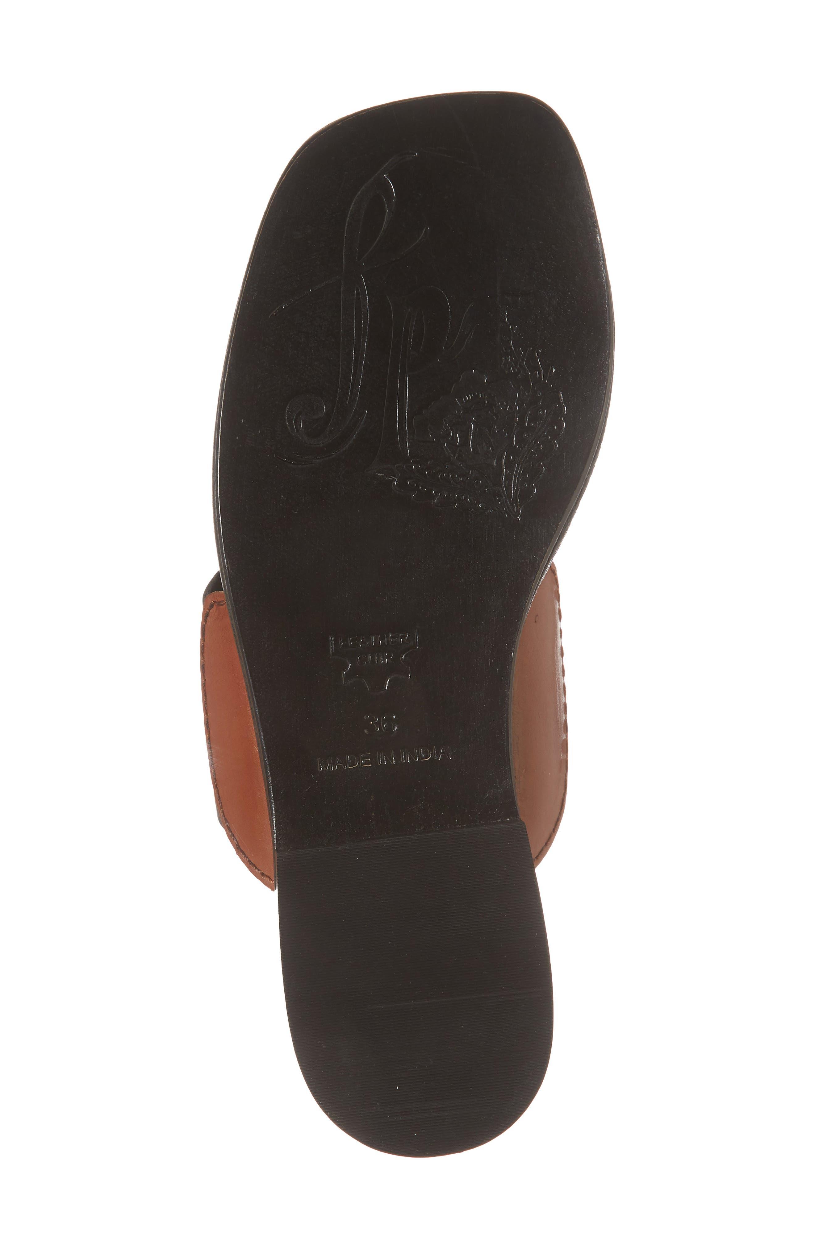 Maui Tasseled Slide Sandal,                             Alternate thumbnail 6, color,                             001