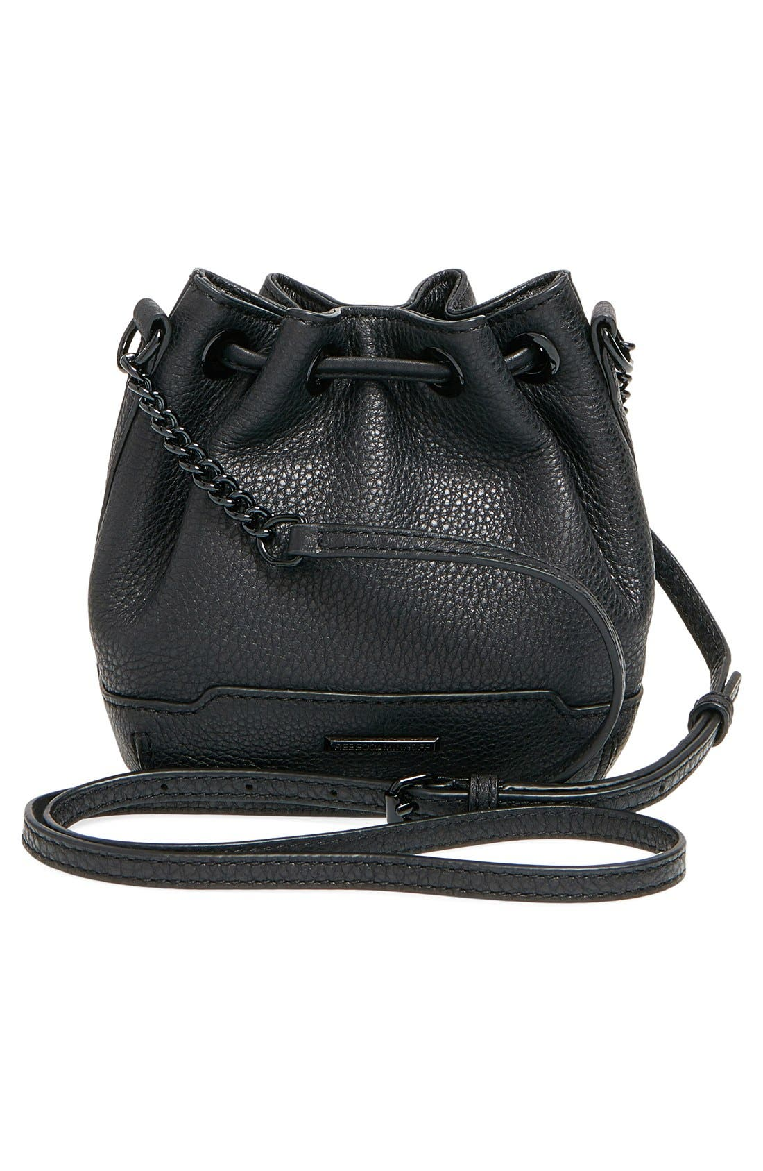 'Micro Lexi' Bucket Bag,                             Alternate thumbnail 5, color,                             001