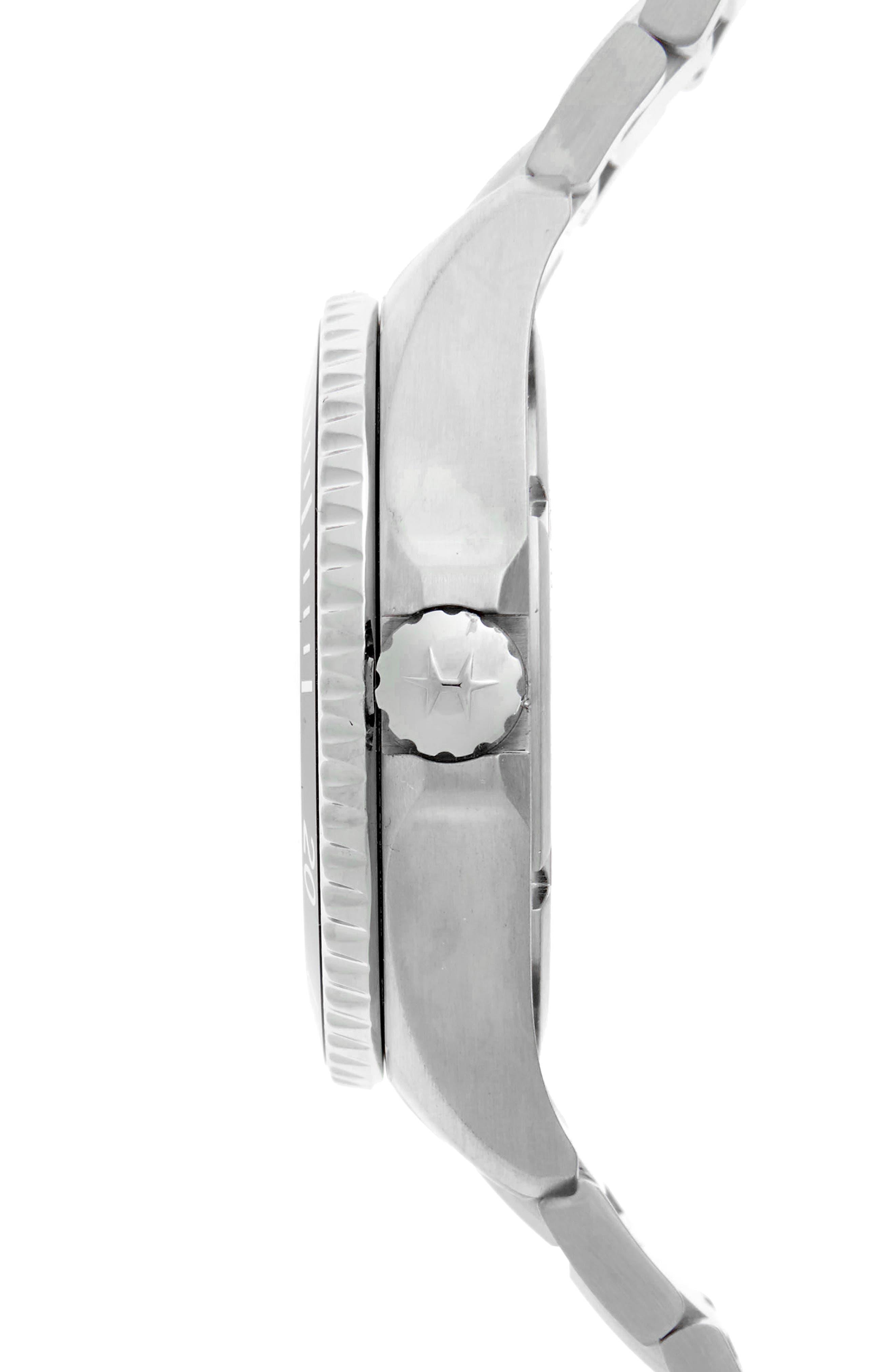 Khaki Automatic Bracelet Watch, 40mm,                             Alternate thumbnail 3, color,                             SILVER/ BLACK/ SILVER