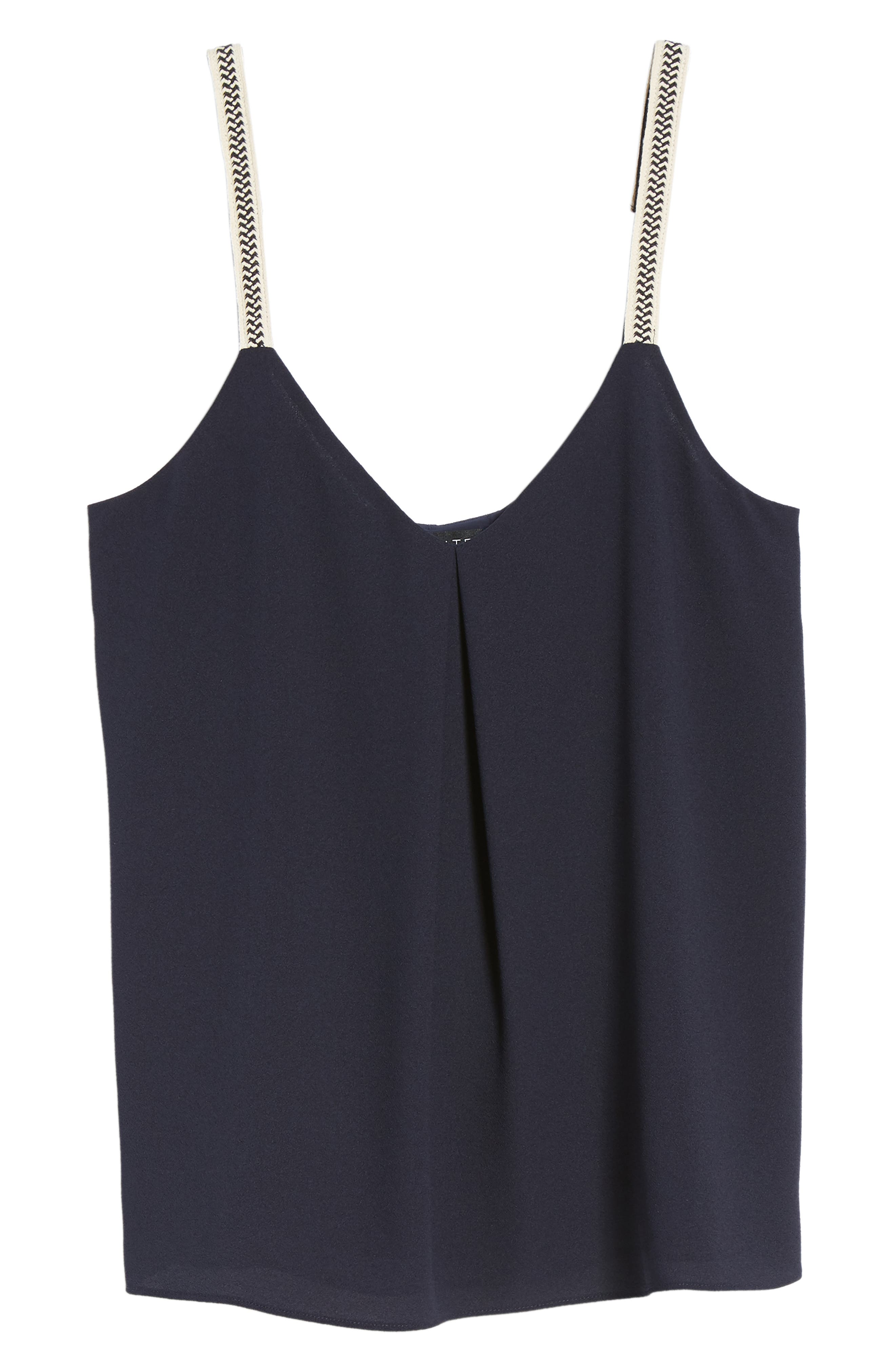 Embroidered Strap Camisole,                             Alternate thumbnail 7, color,                             NIGHT NAVY