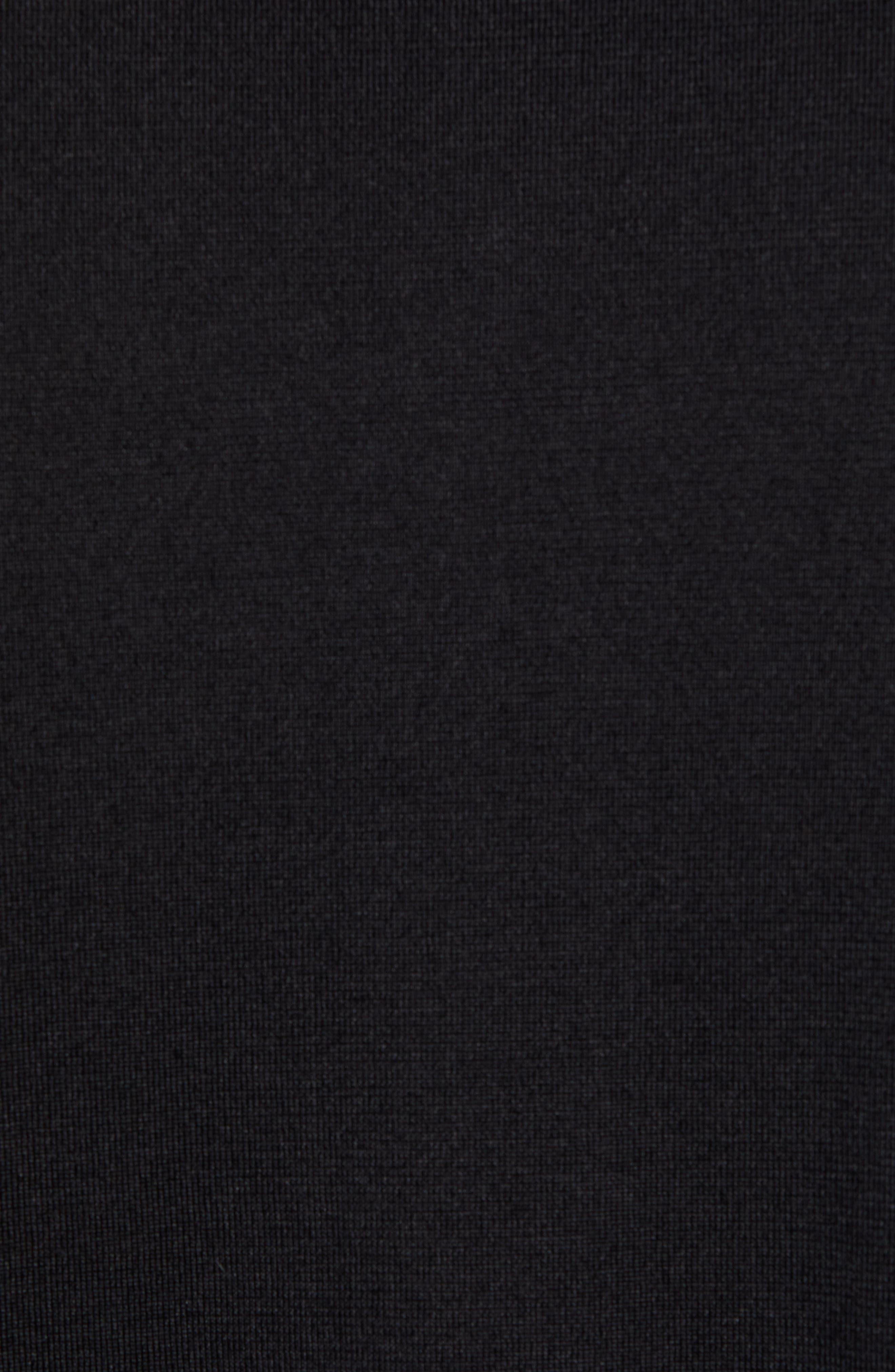 Incisi Slim Fit Knit Silk Blend Shirt,                             Alternate thumbnail 5, color,                             BLACK
