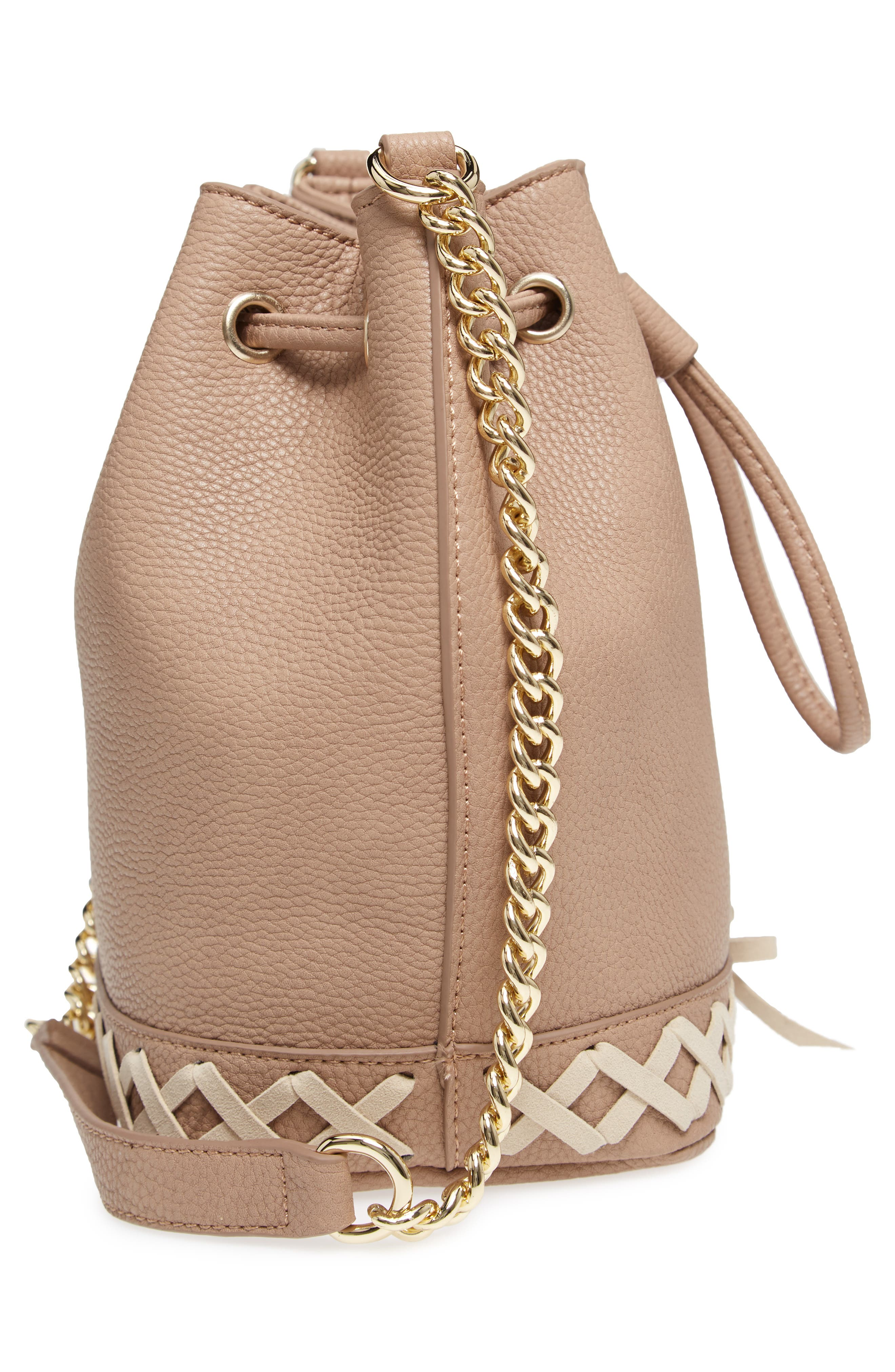 Veronica Faux Leather Bucket Bag,                             Alternate thumbnail 9, color,