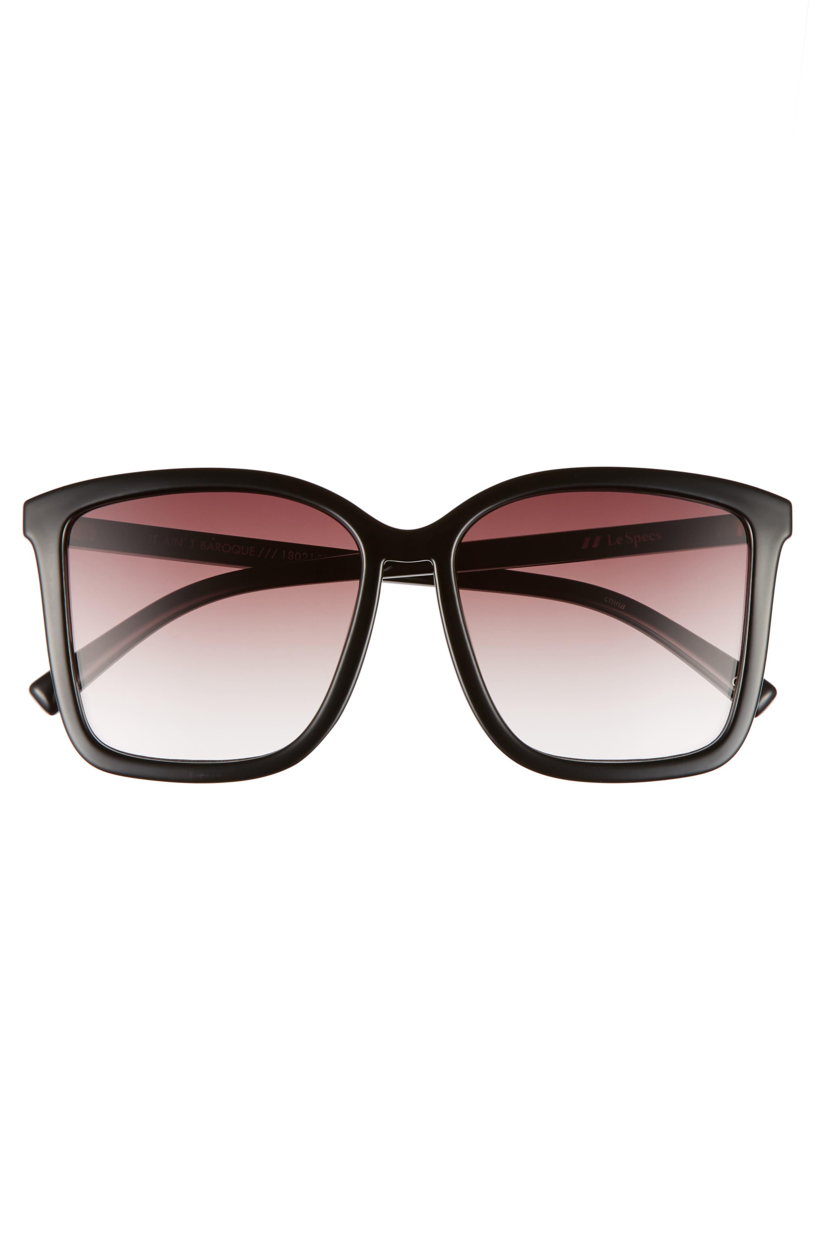 It Ain't Baroque 55mm Sunglasses,                             Alternate thumbnail 3, color,                             001