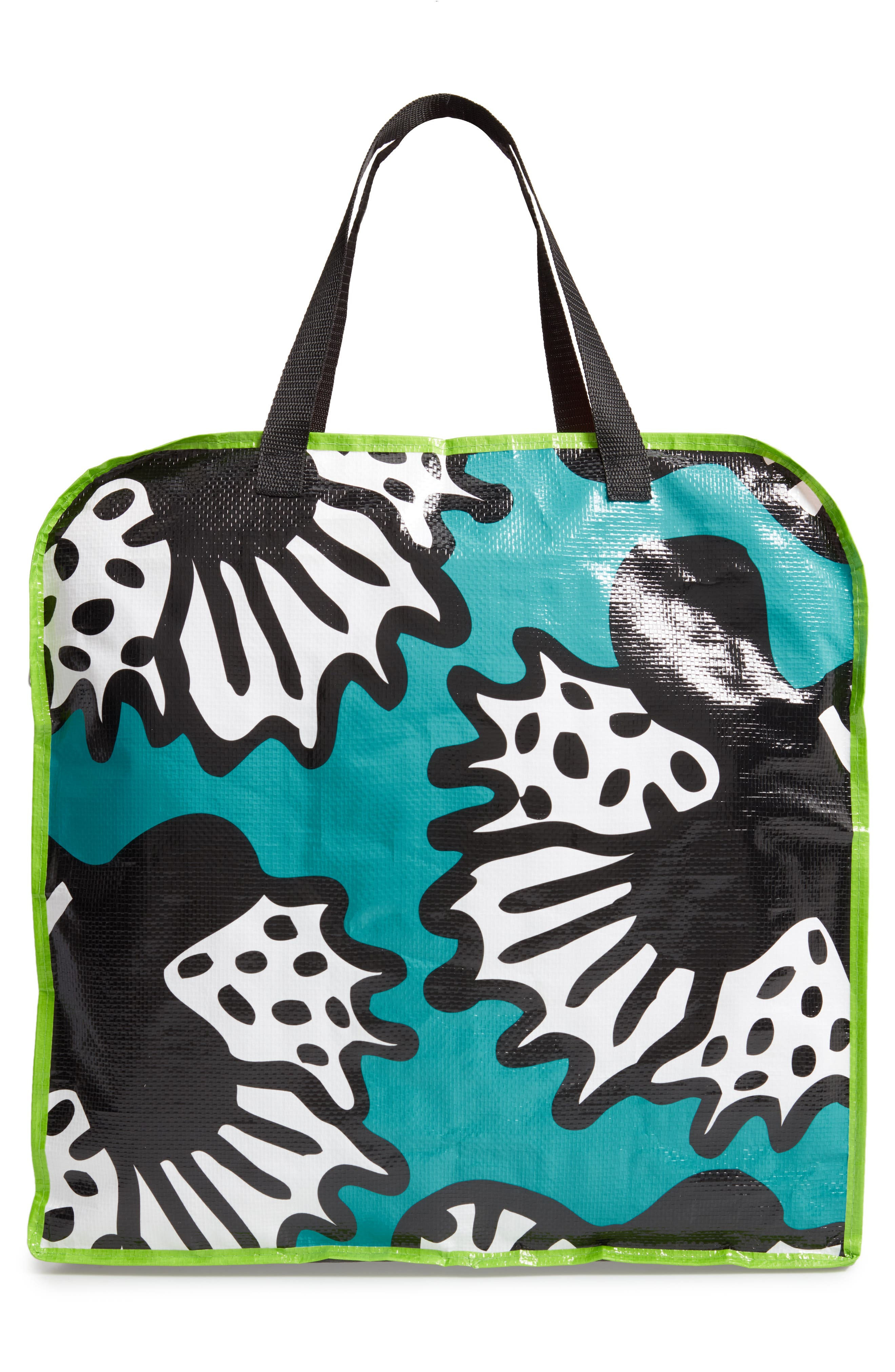 MEMPHIS Milano Butterfly Tote,                             Alternate thumbnail 3, color,                             BLUE