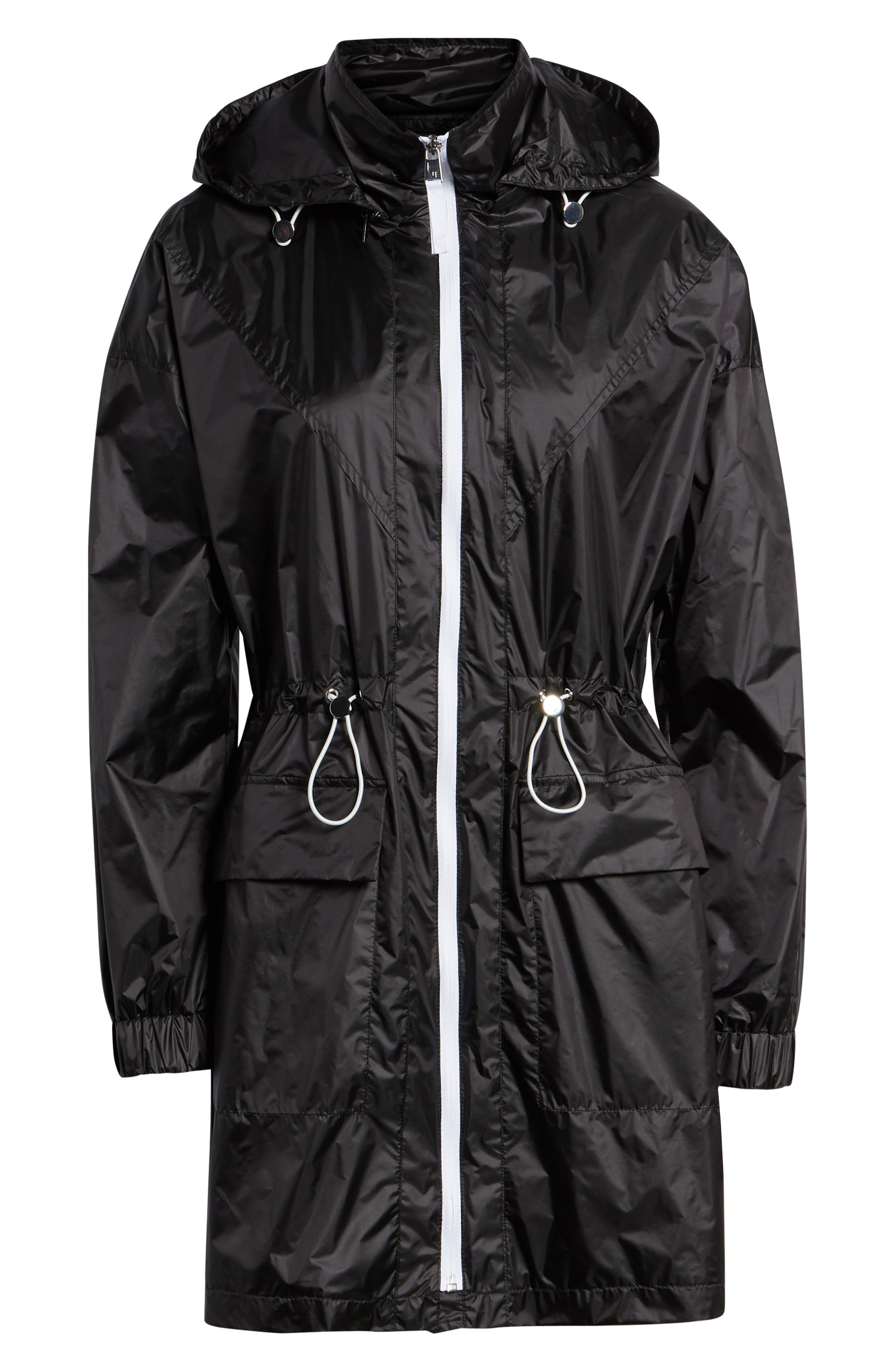 Contrast Zip Anorak Jacket,                             Alternate thumbnail 5, color,                             001
