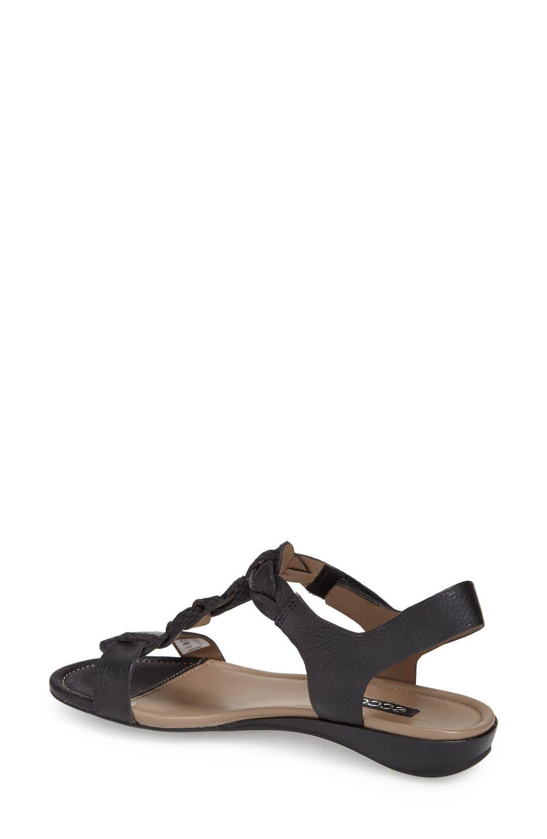 ECCO,                             'Bouillon' Leather Sandal,                             Alternate thumbnail 2, color,                             001