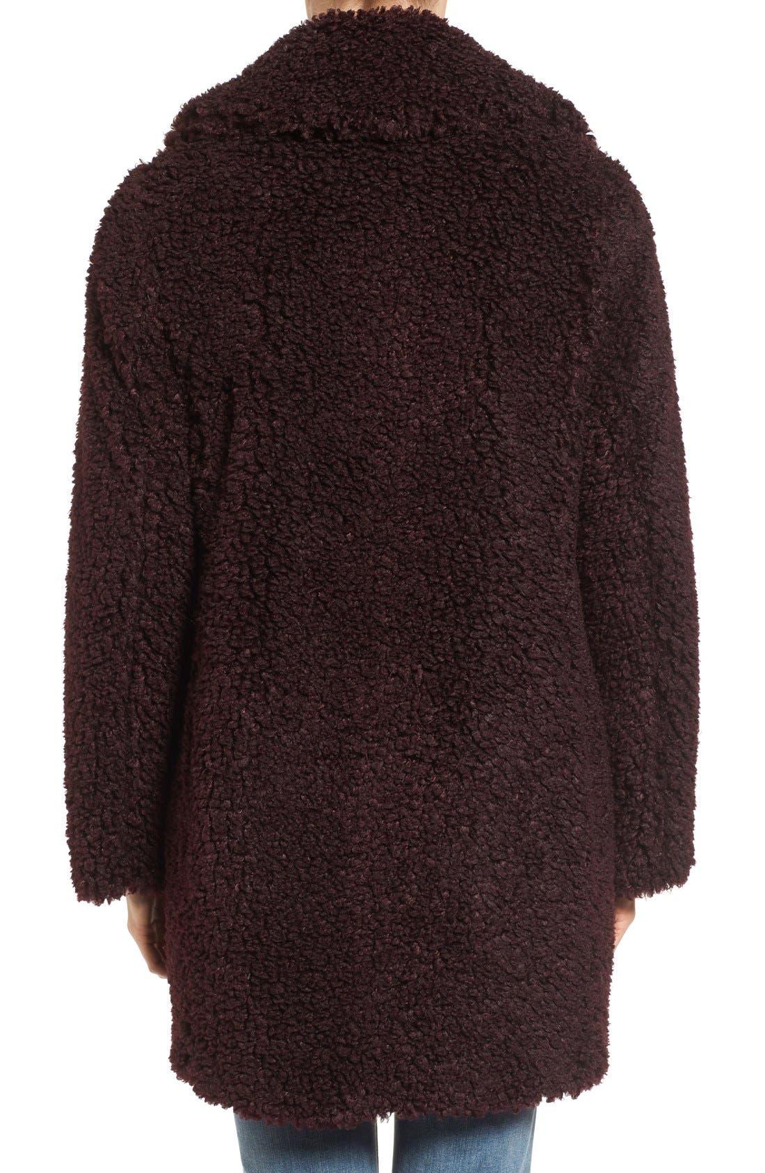 'Teddy Bear' Notch Collar Reversible Faux Fur Coat,                             Alternate thumbnail 22, color,