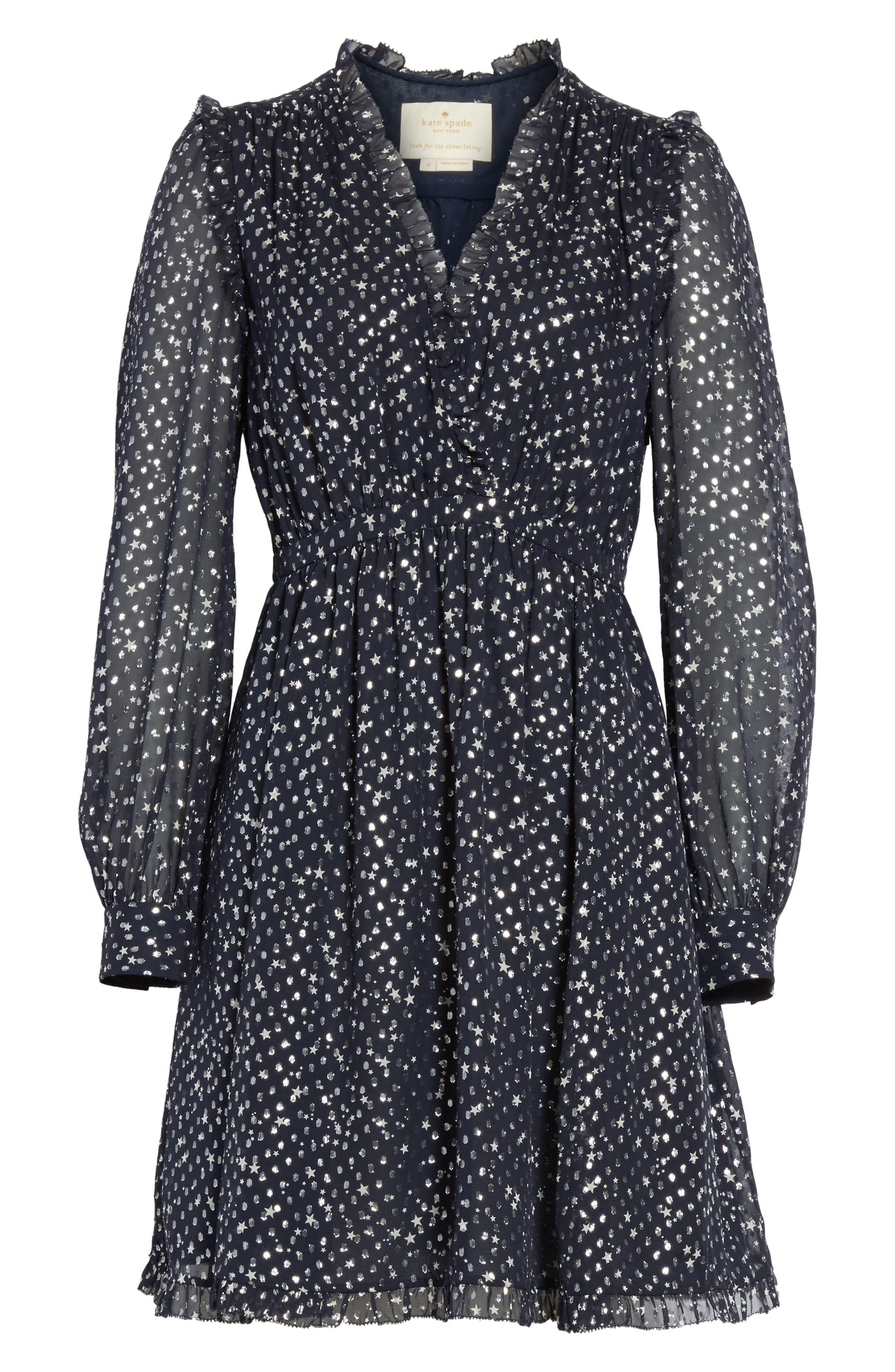 night sky dot dress,                             Alternate thumbnail 6, color,                             473