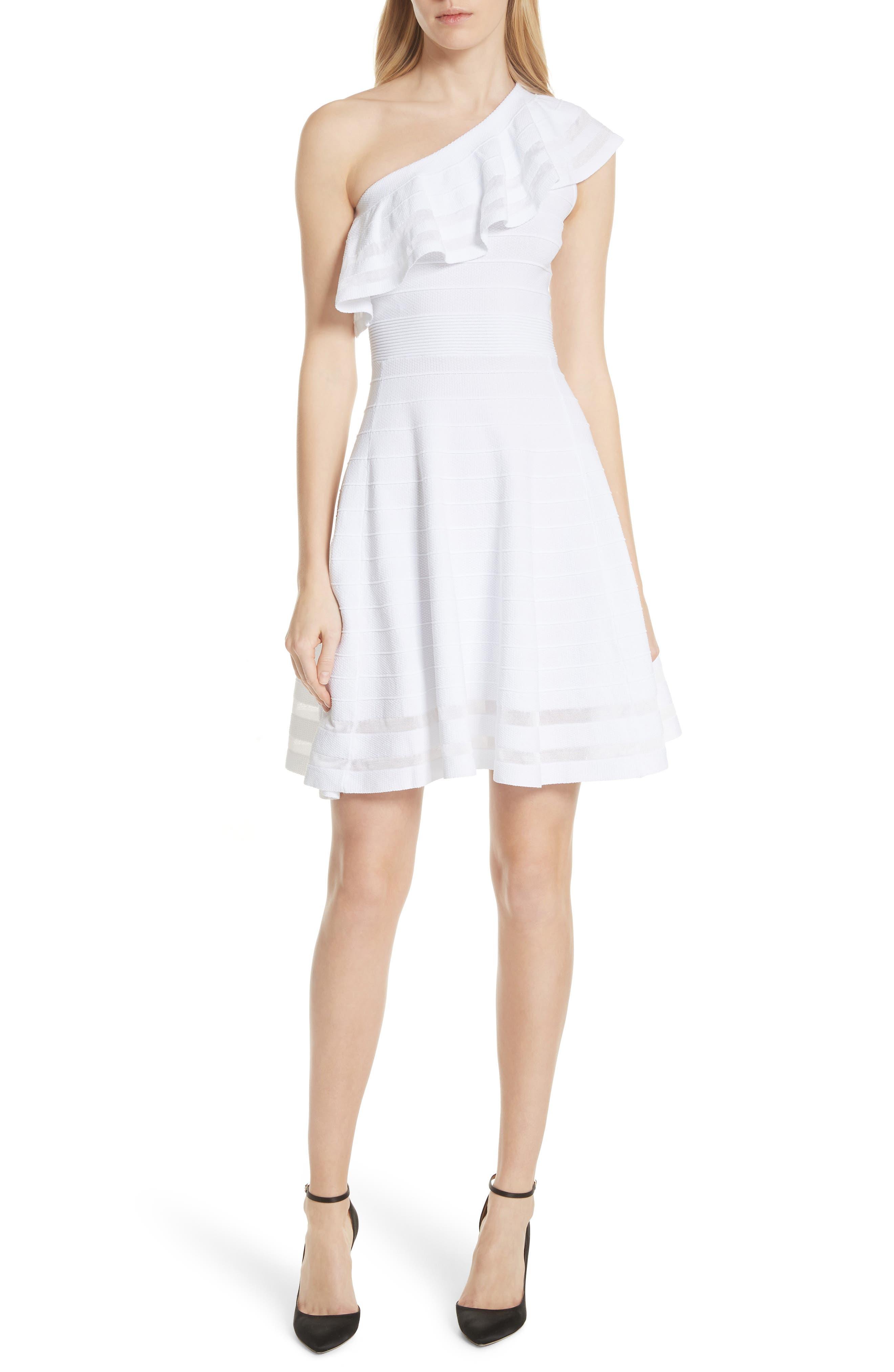Streena Knit Skater Dress,                         Main,                         color, 110