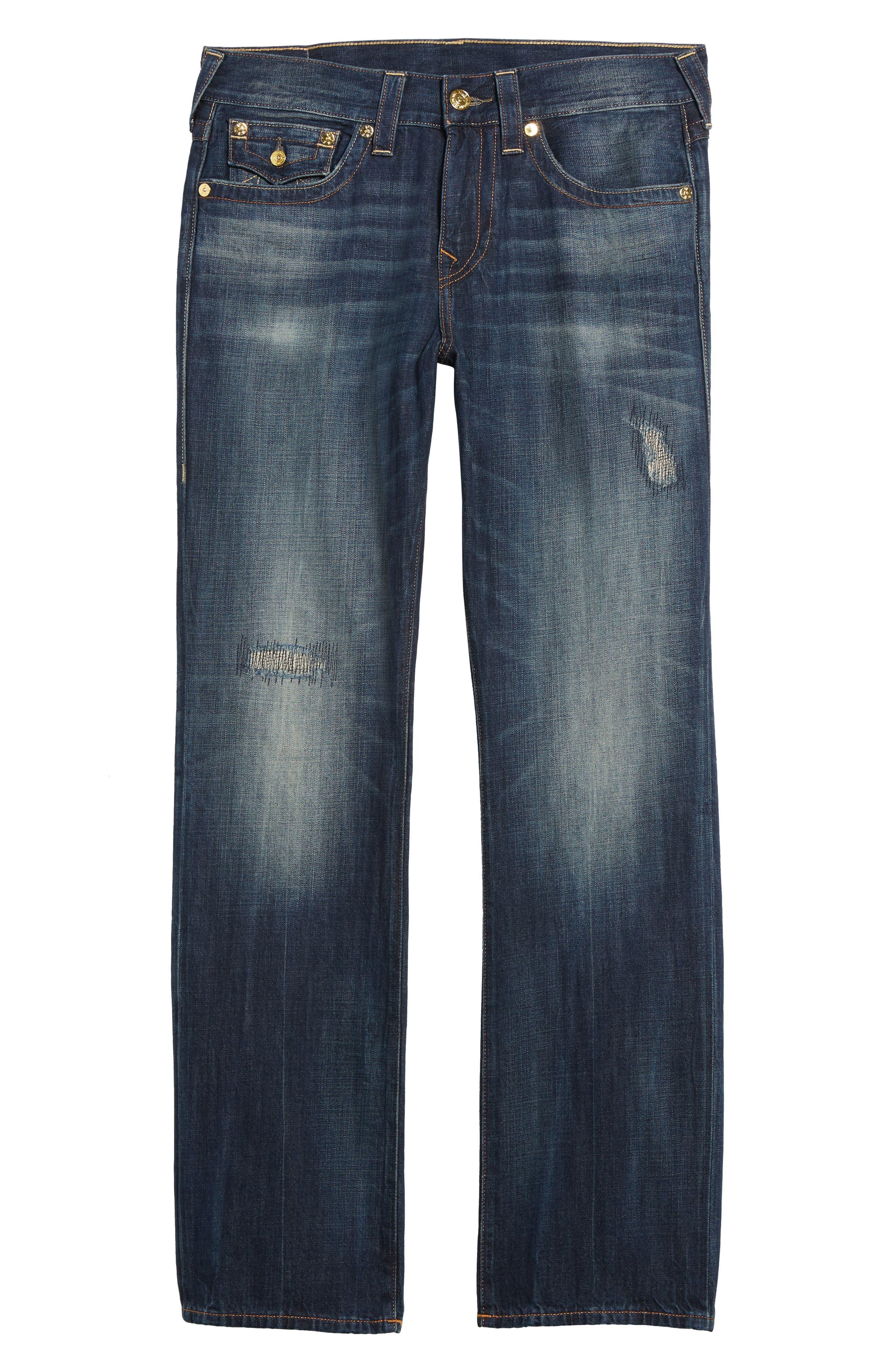Geno Straight Leg Jeans,                             Alternate thumbnail 6, color,                             401
