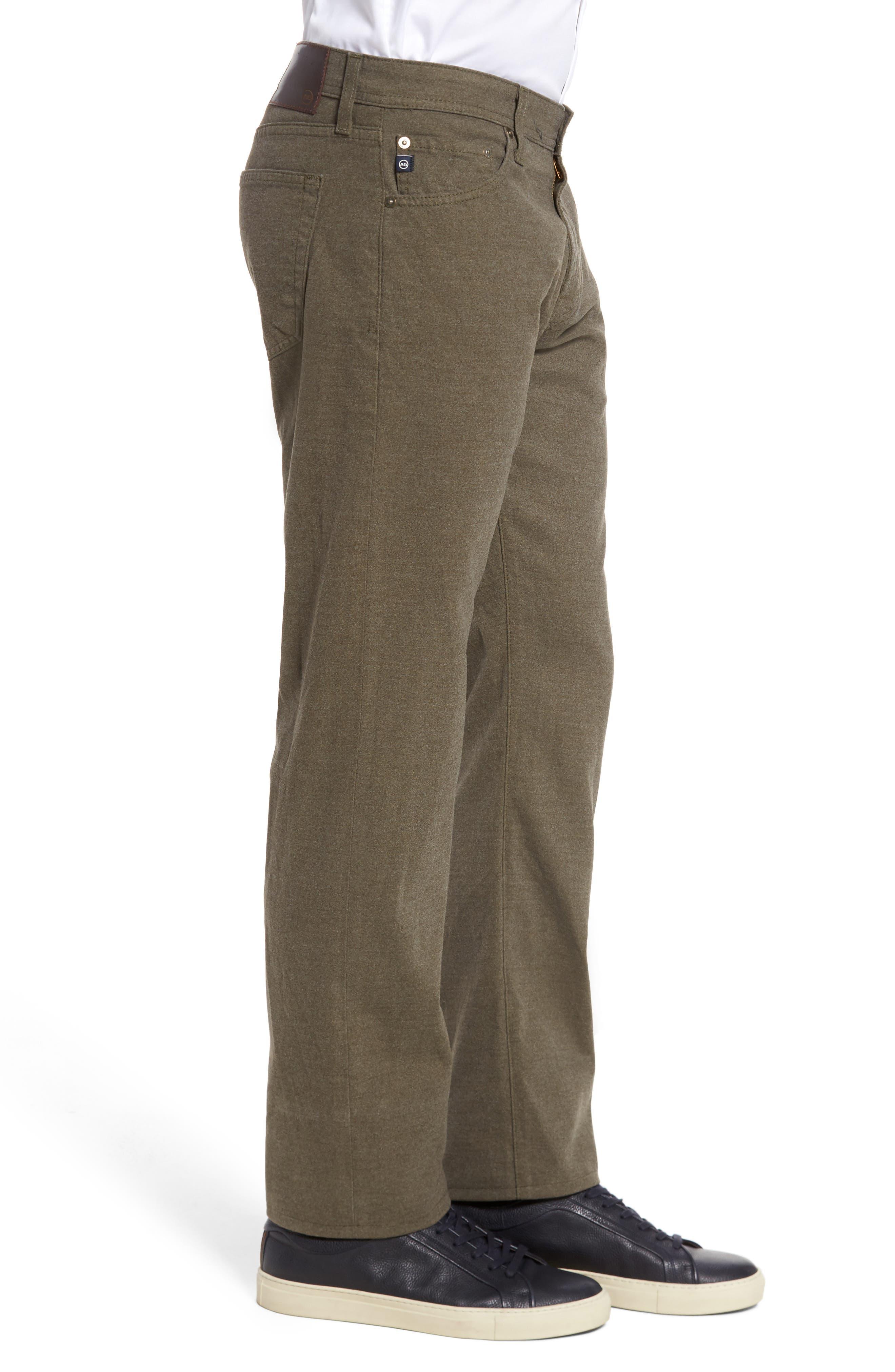Graduate Tailored Five-Pocket Straight Leg Pants,                             Alternate thumbnail 3, color,                             CLIMBING IVY