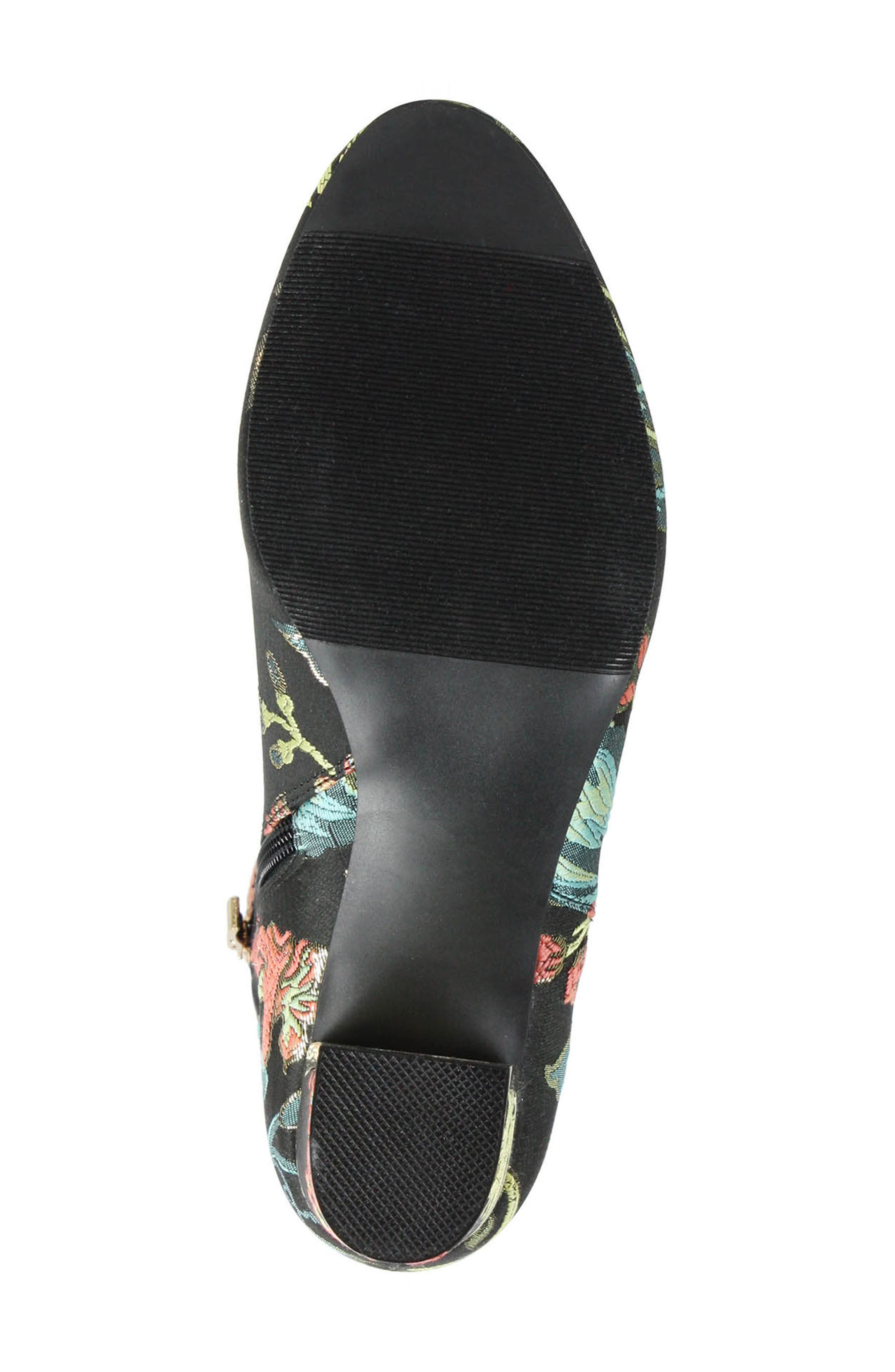 Tunatti Bootie,                             Alternate thumbnail 5, color,                             BLACK MULTI FABRIC