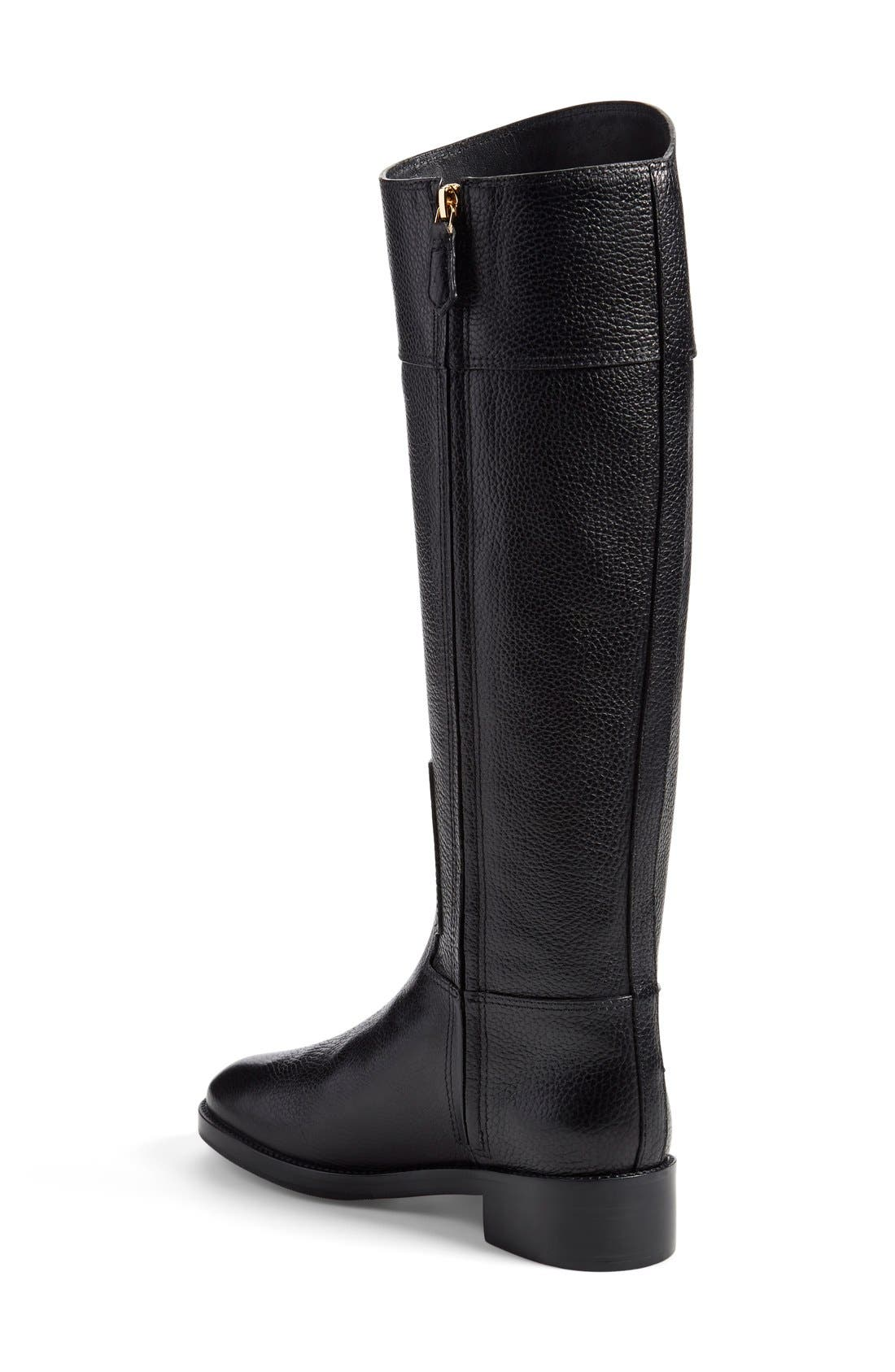 'Joanna' Riding Boot,                             Alternate thumbnail 3, color,                             001