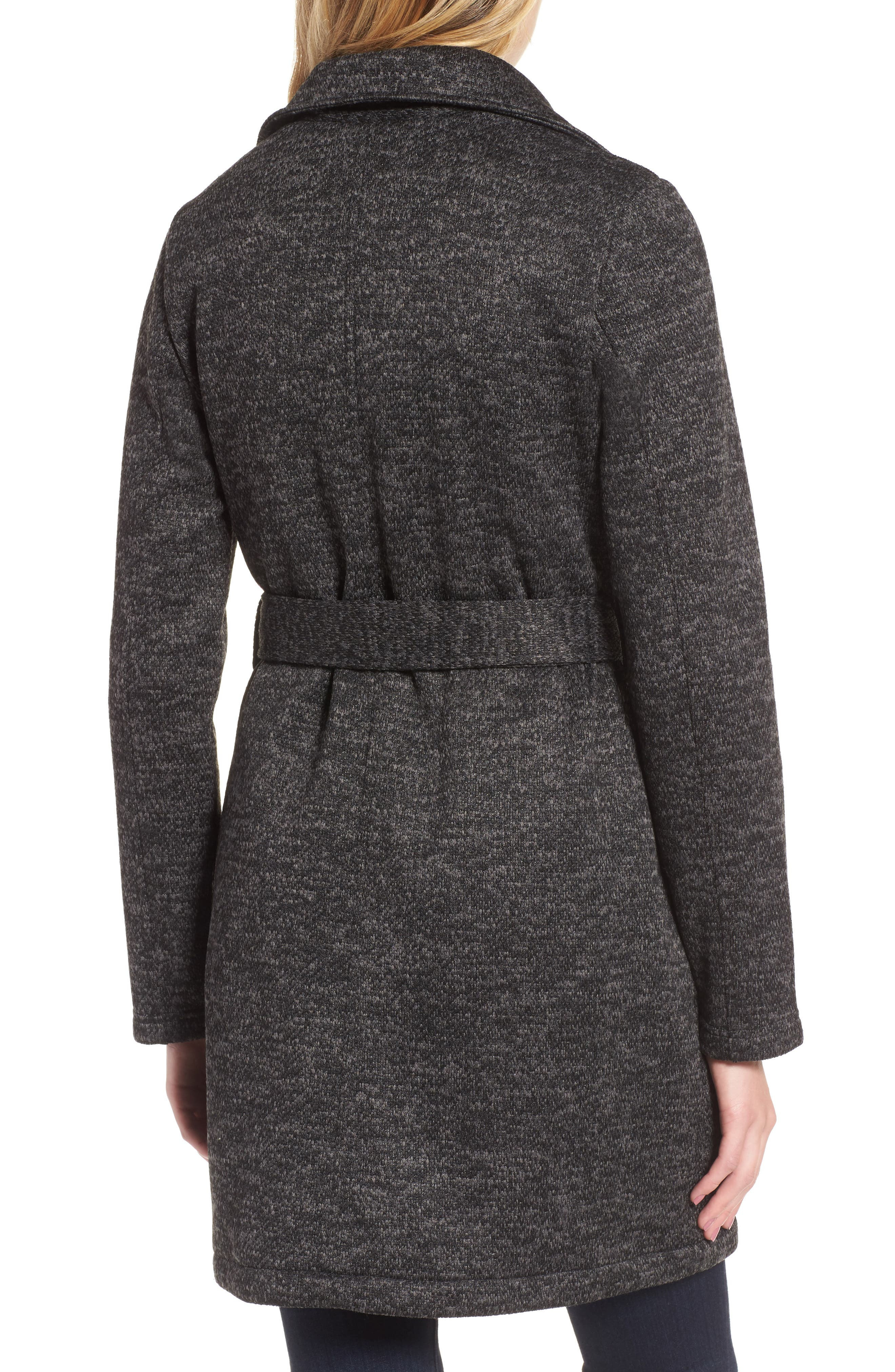 Belted Fleece Jacket,                             Alternate thumbnail 3, color,