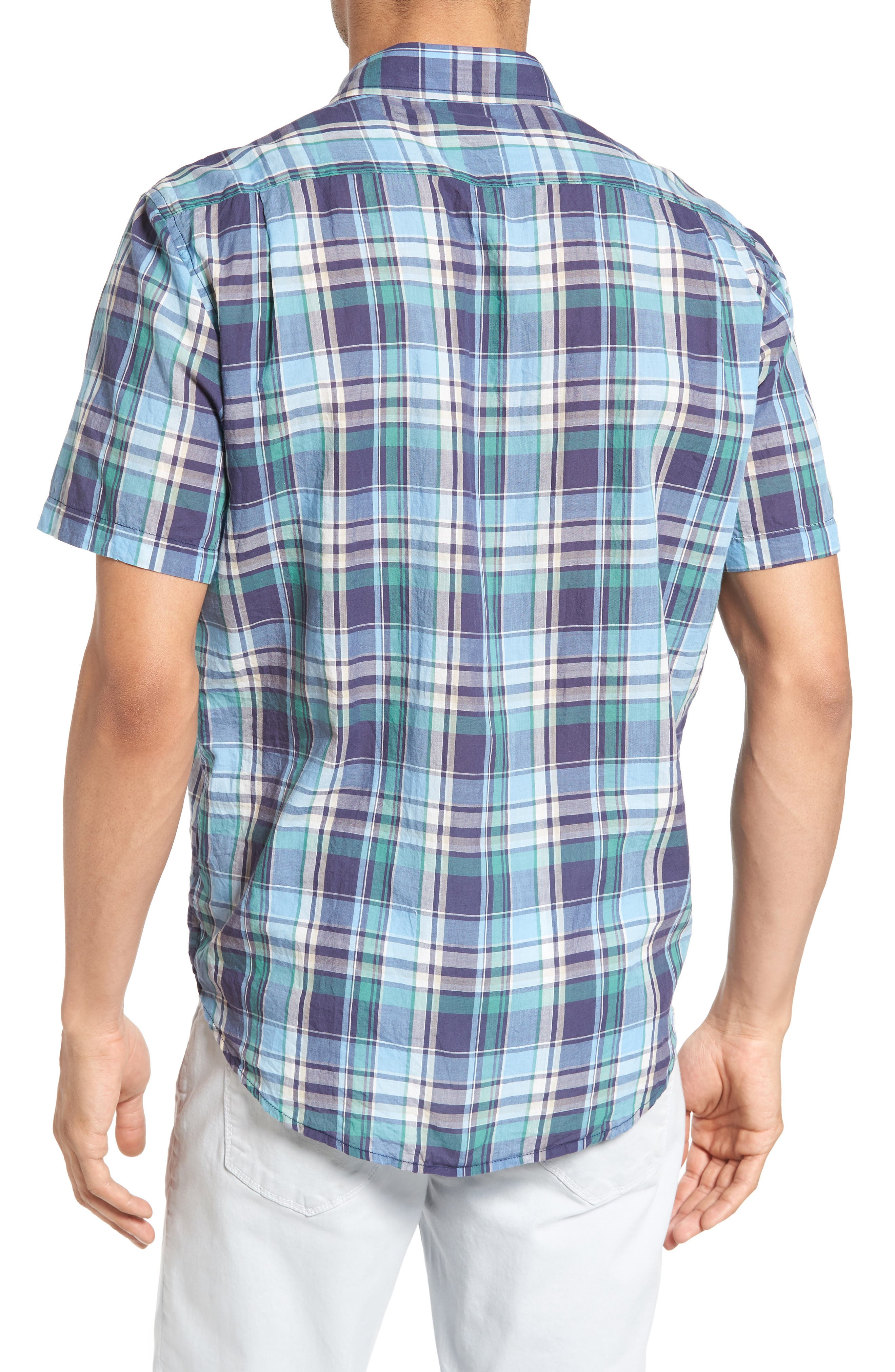 TAILOR VINTAGE,                             Crinkle Plaid Sport Shirt,                             Alternate thumbnail 2, color,                             424