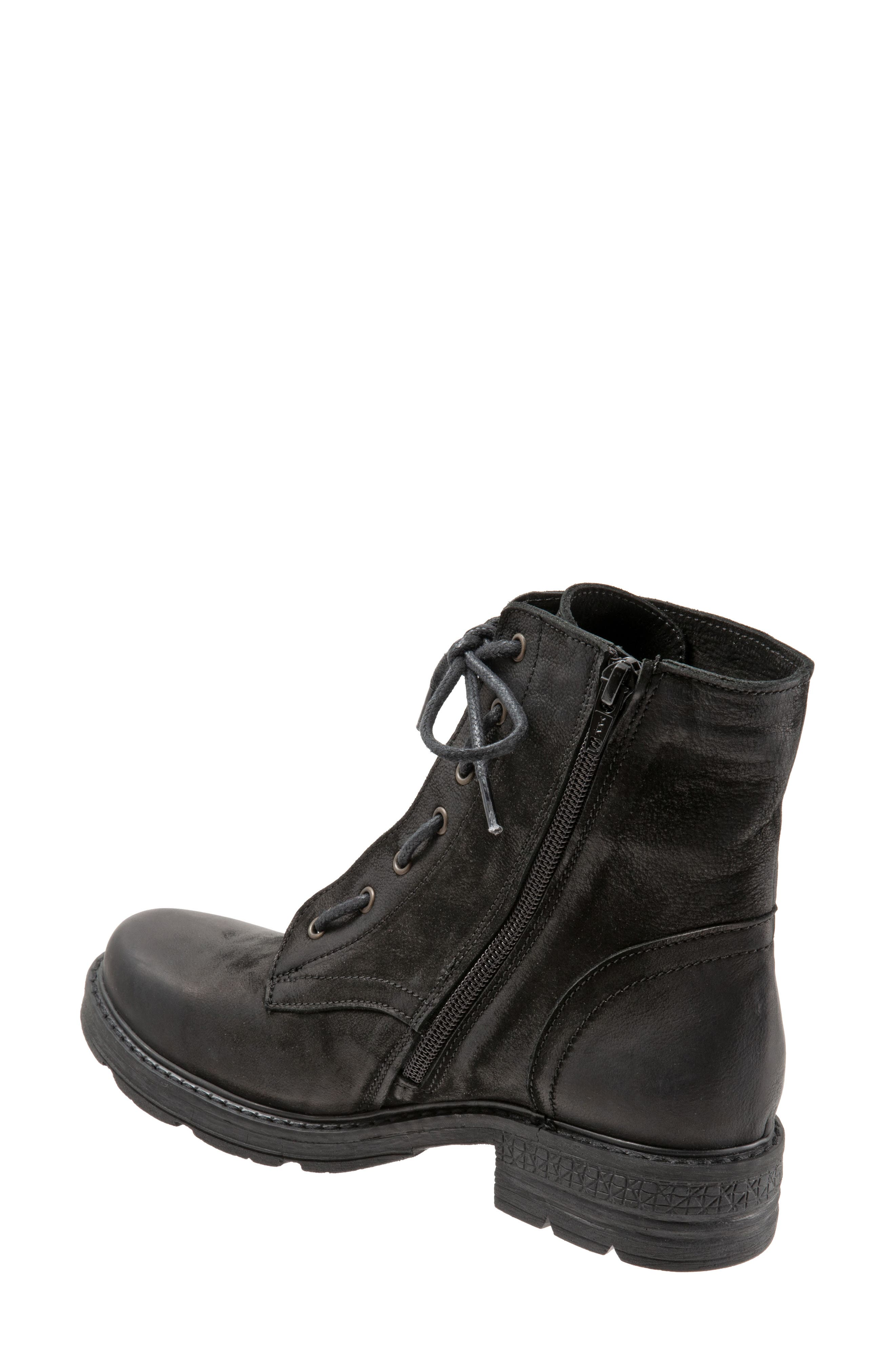 Getty Military Boot,                             Alternate thumbnail 2, color,                             BLACK NATURAL LEATHER