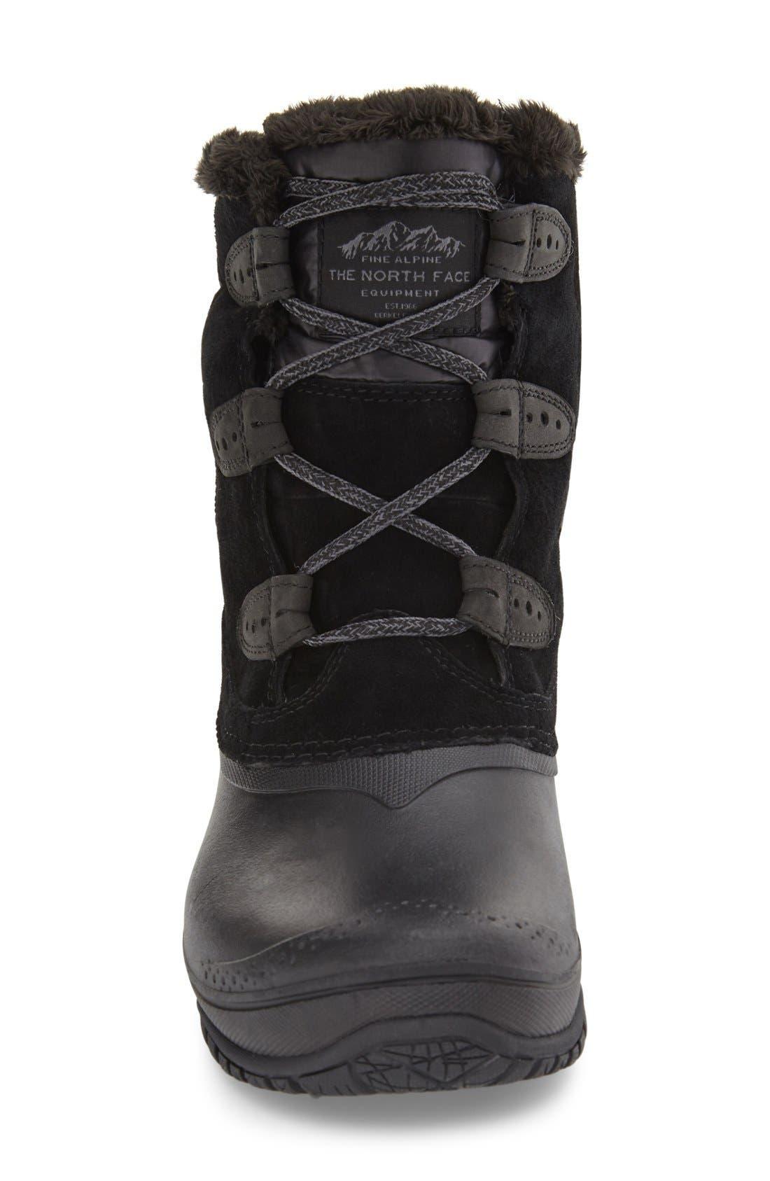 Shellista II Waterproof Boot,                             Alternate thumbnail 3, color,                             BLACK/ SMOKED PEARL GREY