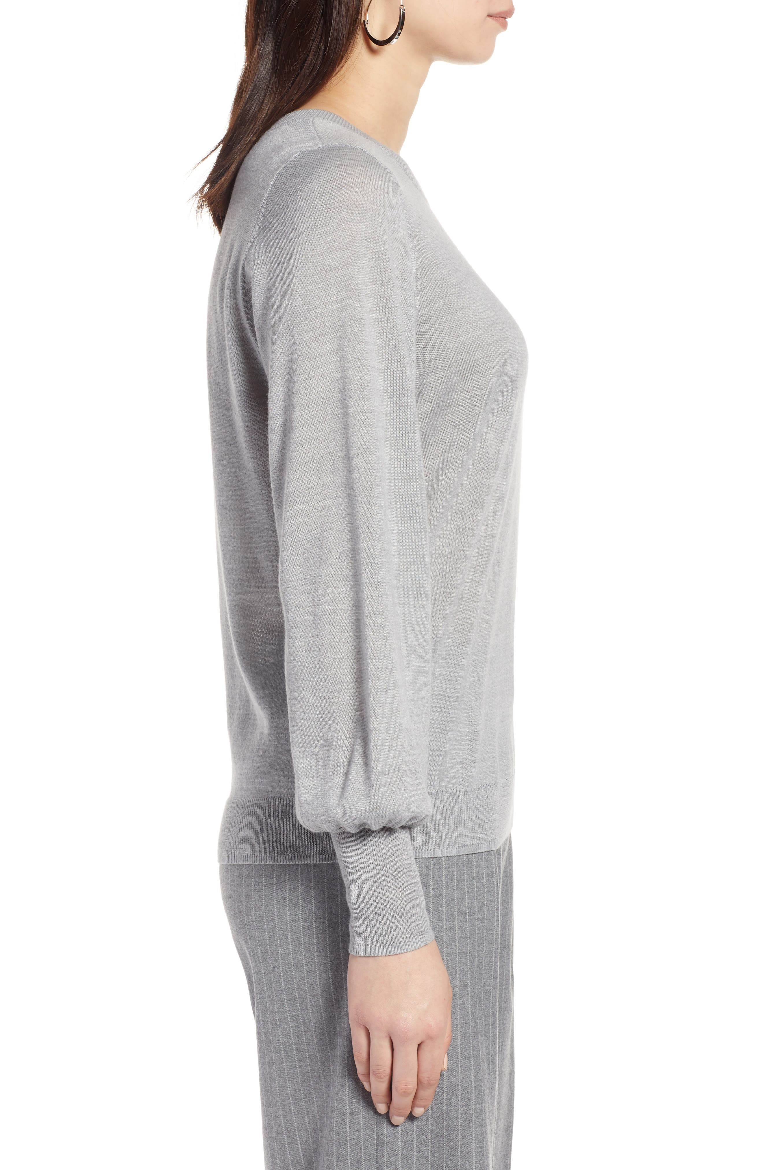 Puff Sleeve Sweater,                             Alternate thumbnail 23, color,