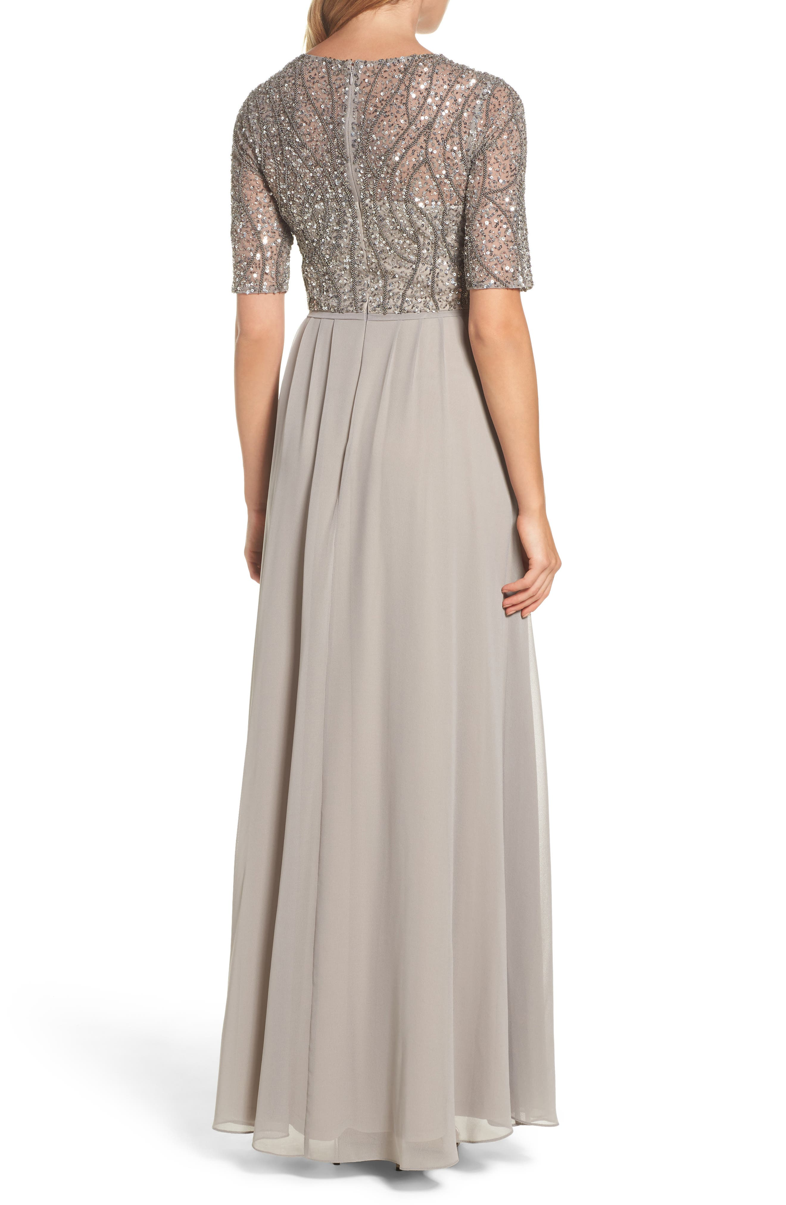 Embellished Bodice Gown,                             Alternate thumbnail 2, color,                             046