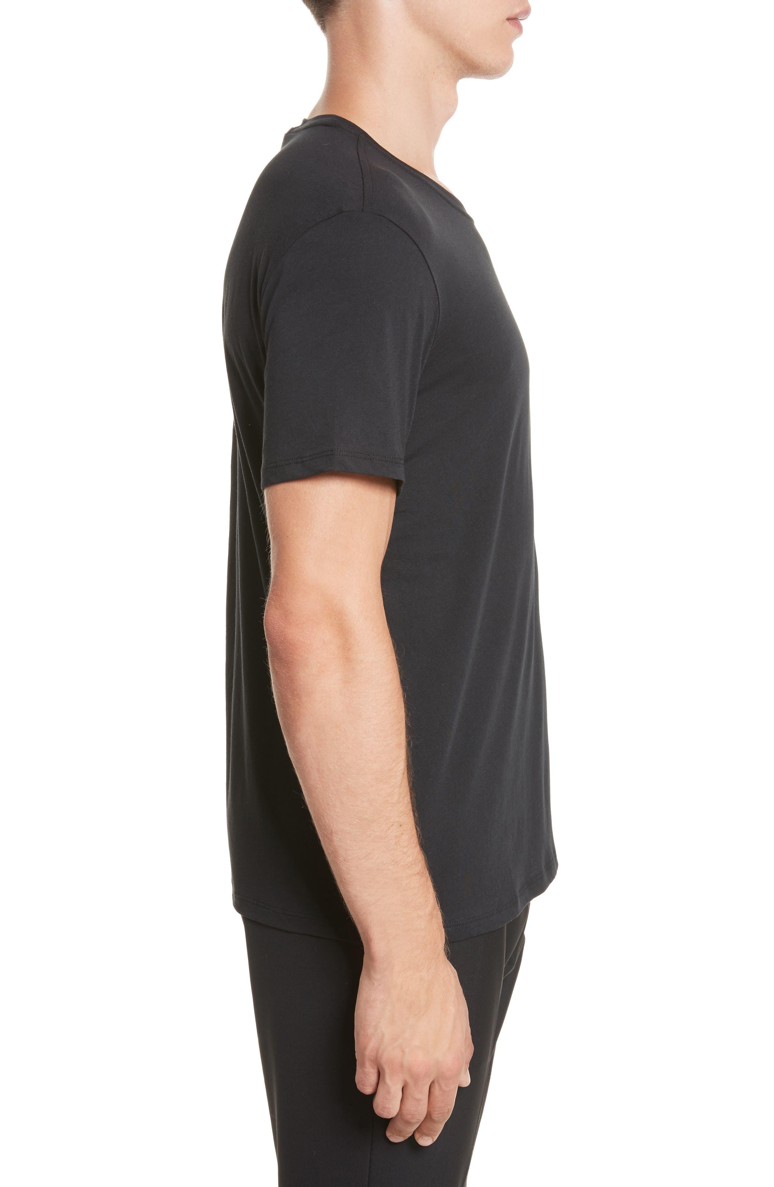 Cotton Jersey T-Shirt,                             Alternate thumbnail 4, color,                             001