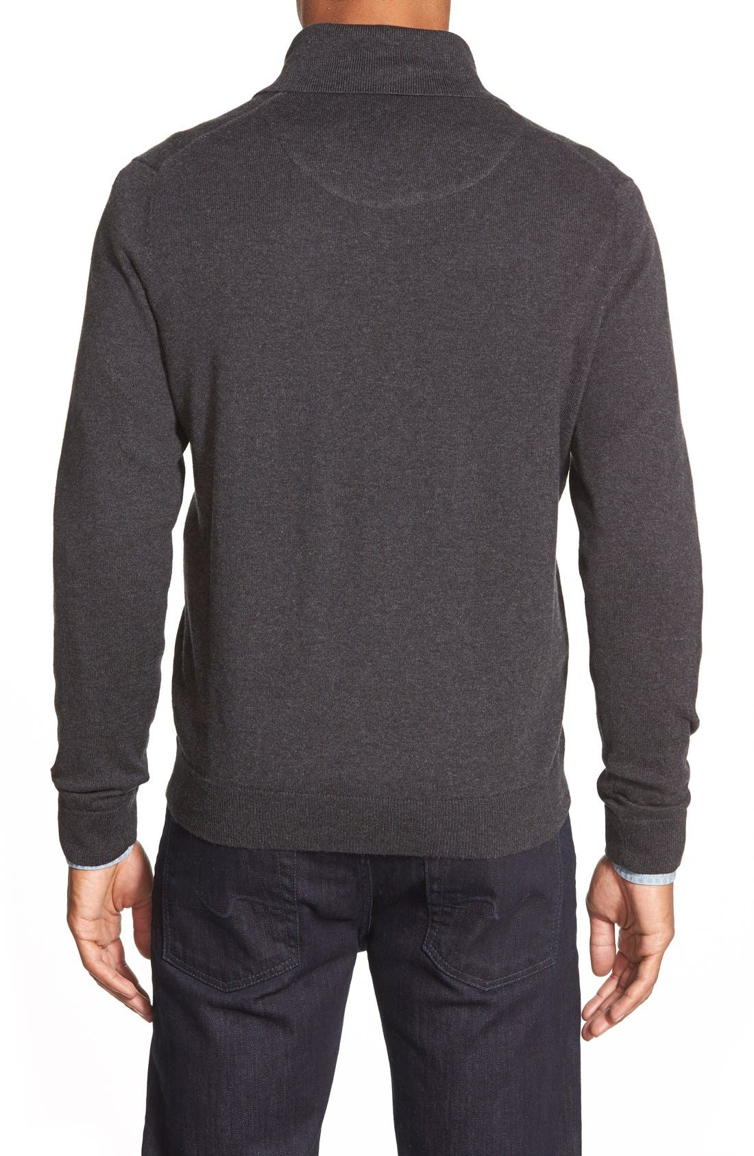 Cotton & Cashmere Shawl Collar Sweater,                             Alternate thumbnail 7, color,                             030