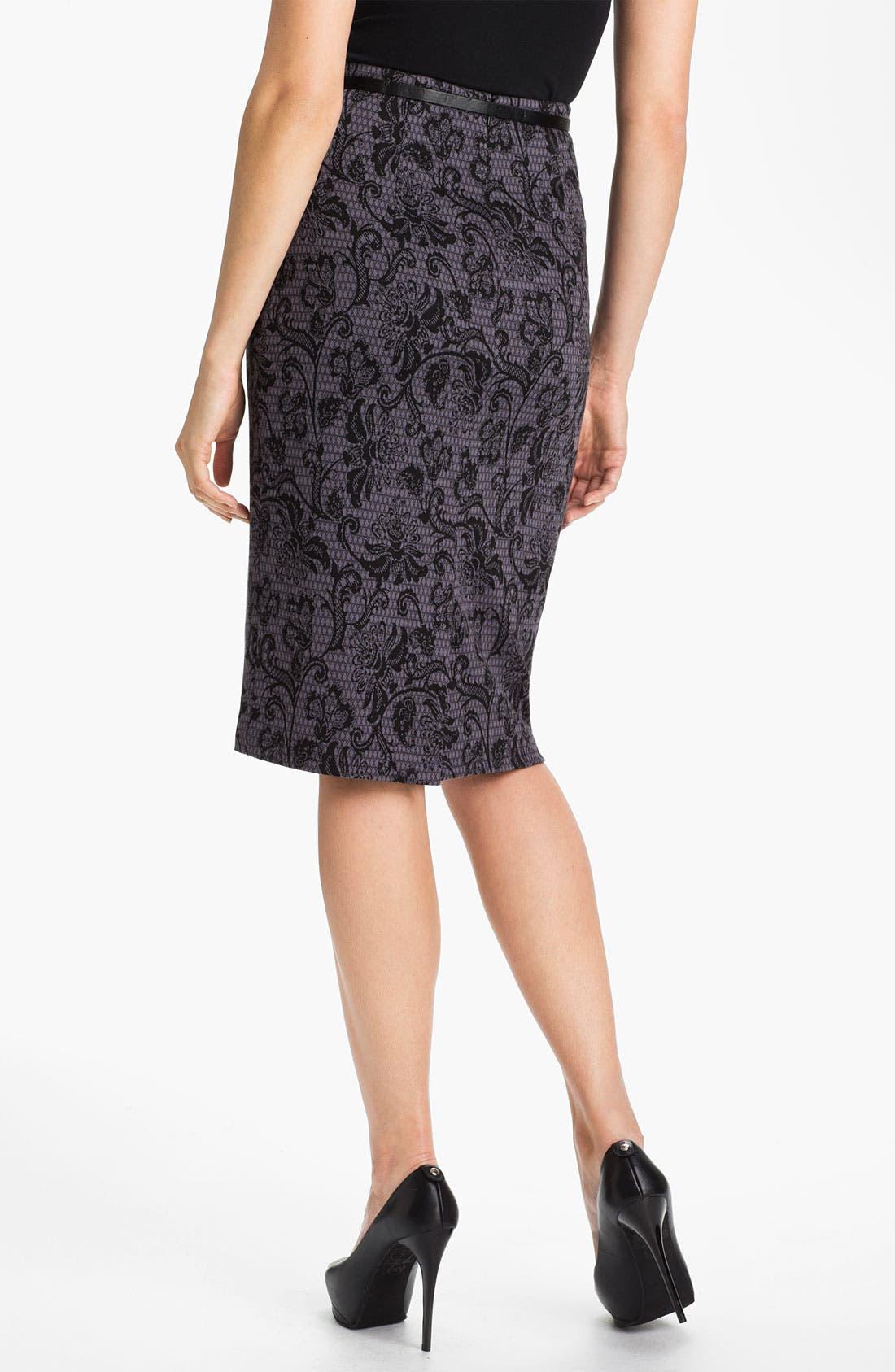 Belted Ponte Skirt,                             Alternate thumbnail 28, color,