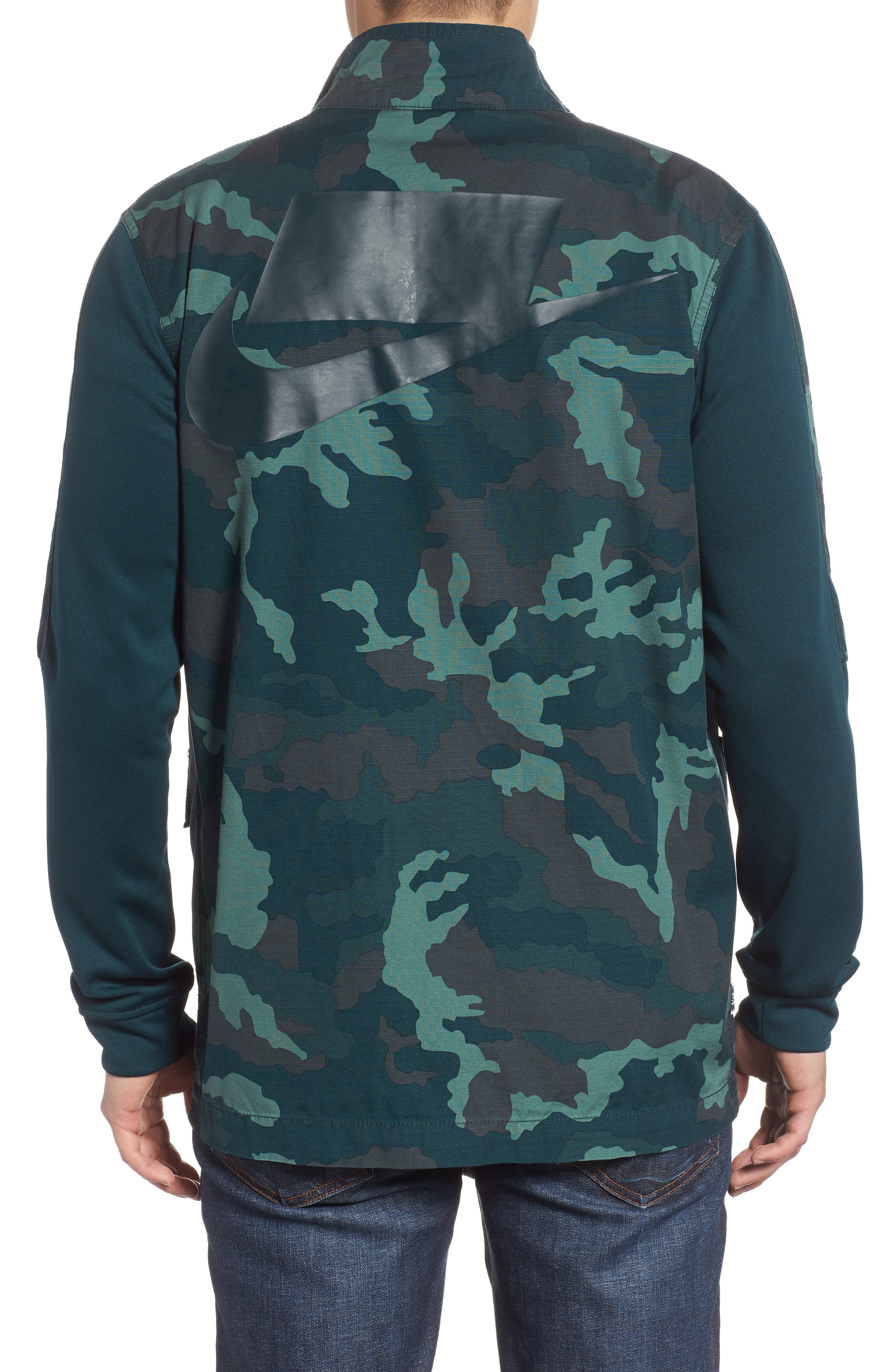 NSW Lightweight Camo Field Jacket,                             Alternate thumbnail 2, color,                             MIDNIGHT SPRUCE