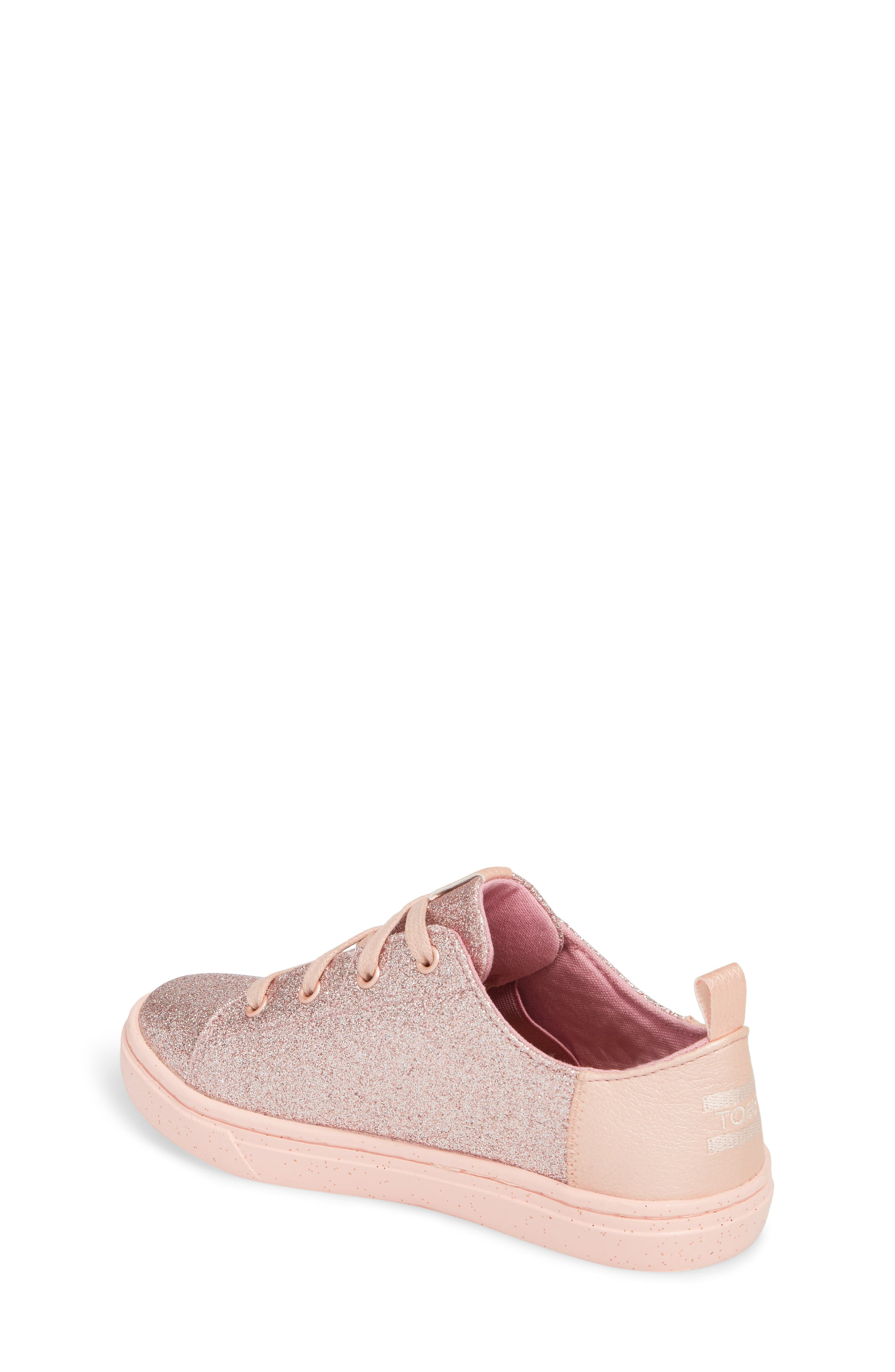 TOMS,                             Lenny Metallic Glitter Sneaker,                             Alternate thumbnail 2, color,                             650