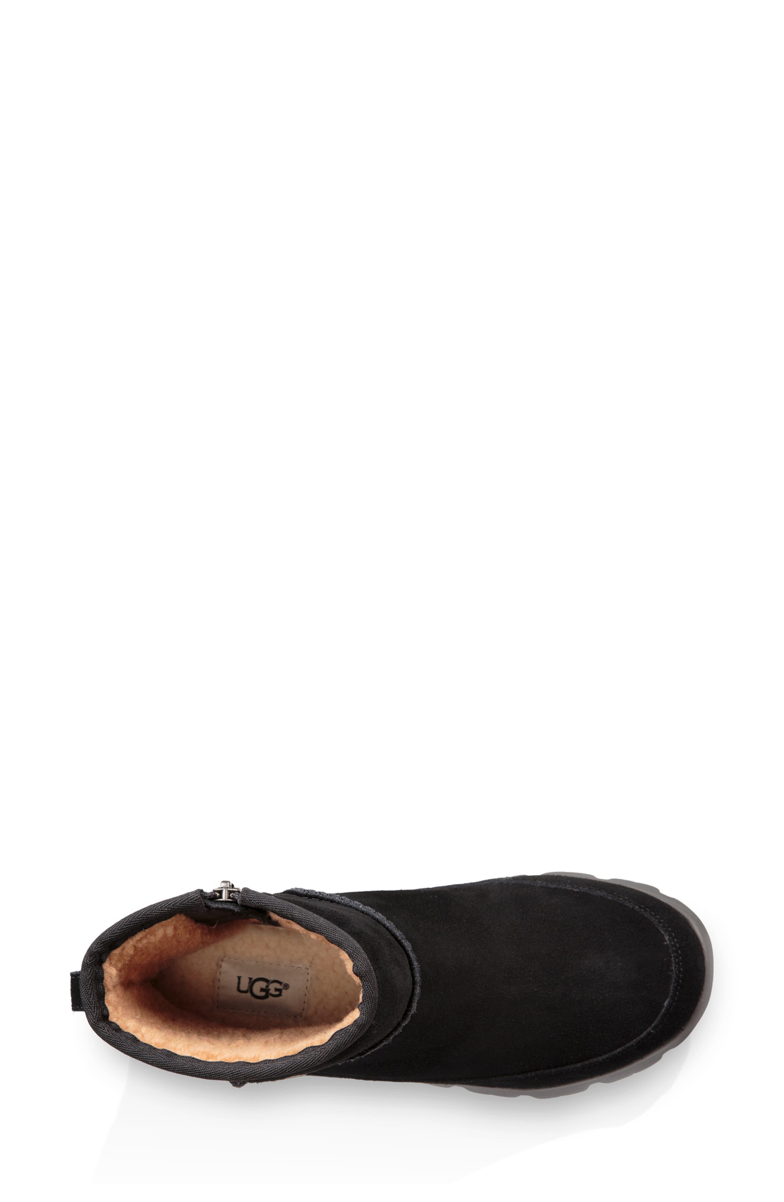 Palomar Waterproof Sneaker Bootie,                             Alternate thumbnail 4, color,                             BLACK/ CHARCOAL SUEDE