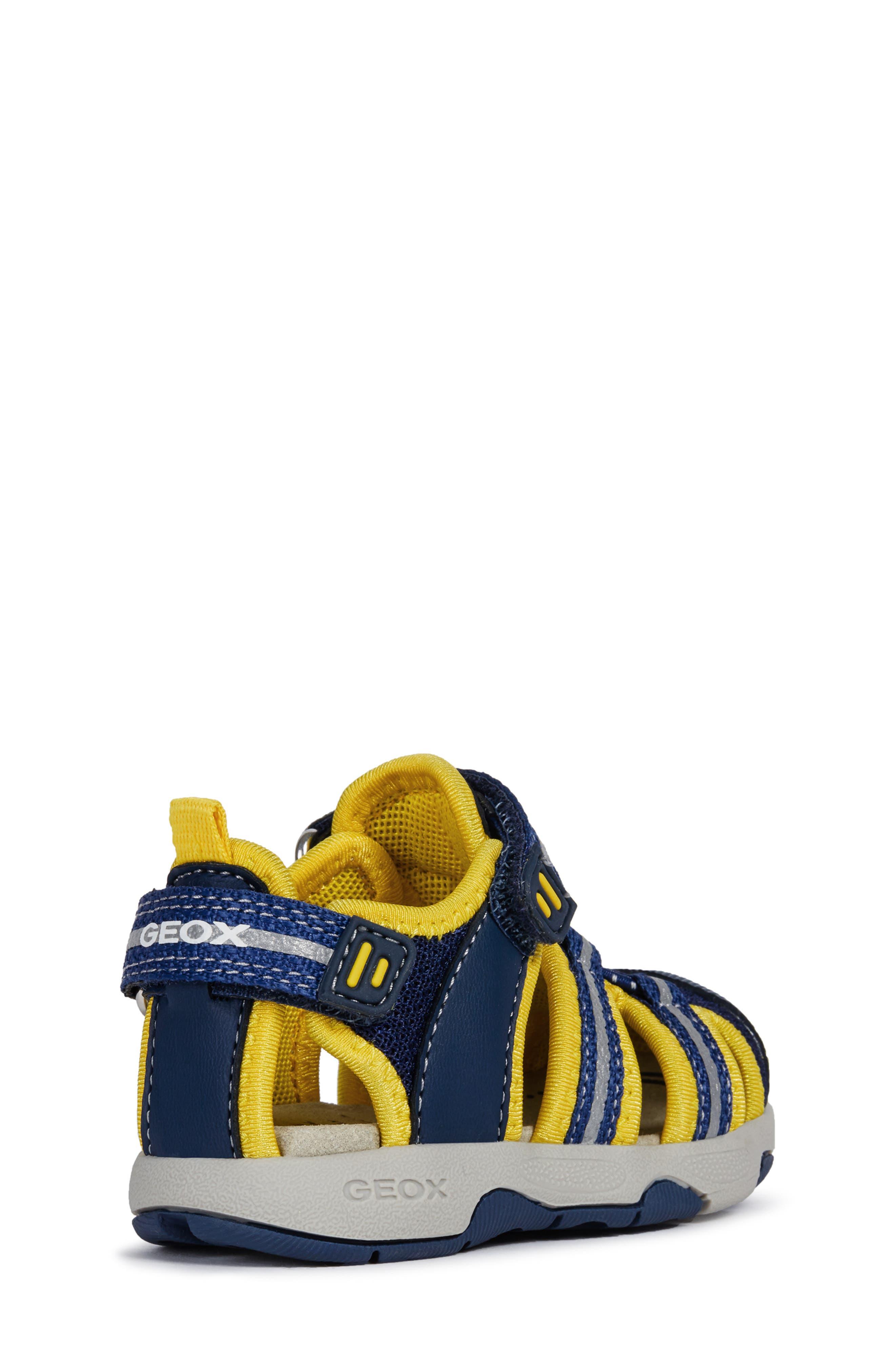 Multy Water Friendly Sandal,                             Alternate thumbnail 7, color,                             NAVY/ YELLOW