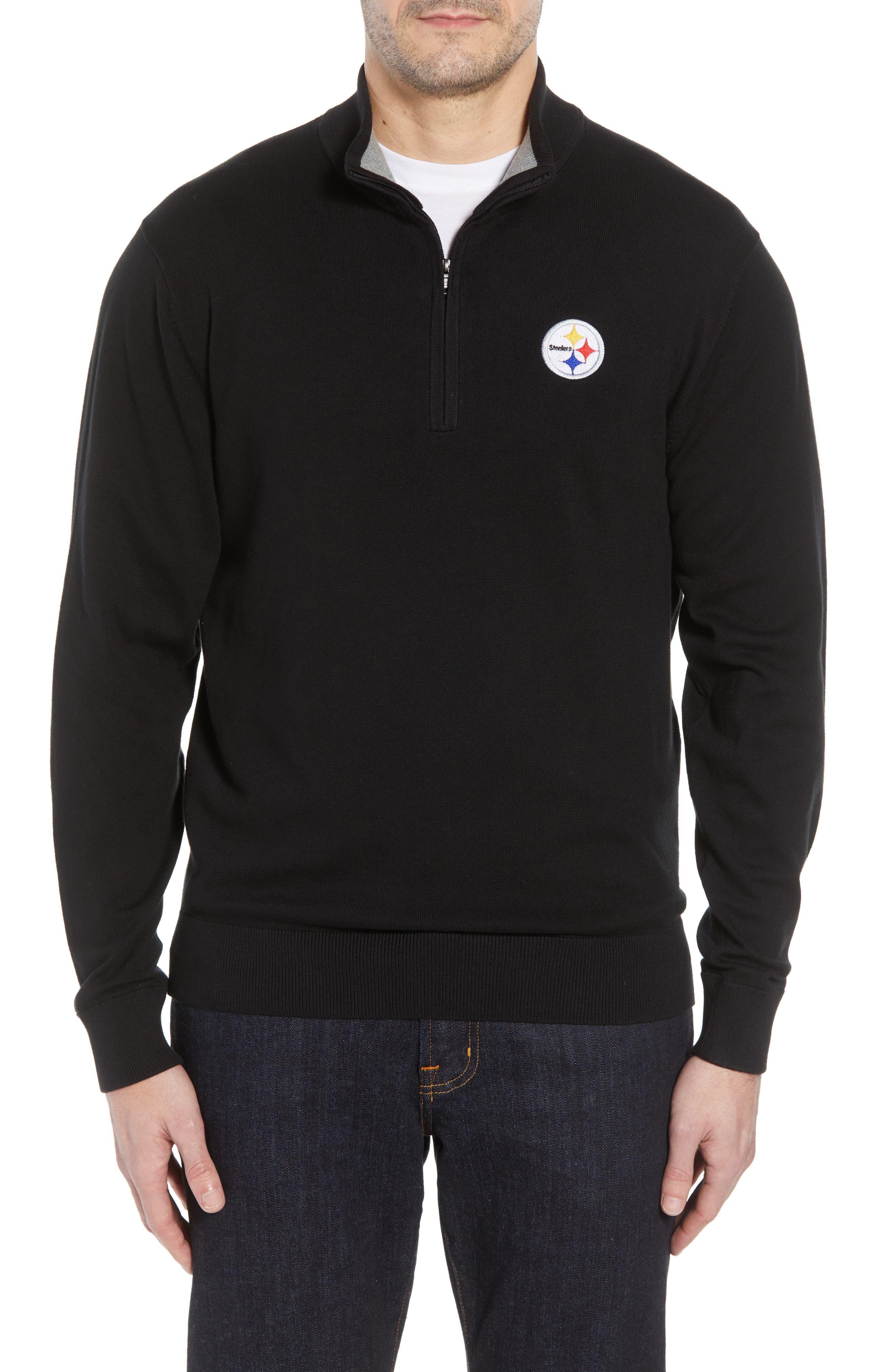 Pittsburgh Steelers - Lakemont Regular Fit Half Zip Sweater,                             Main thumbnail 1, color,                             001