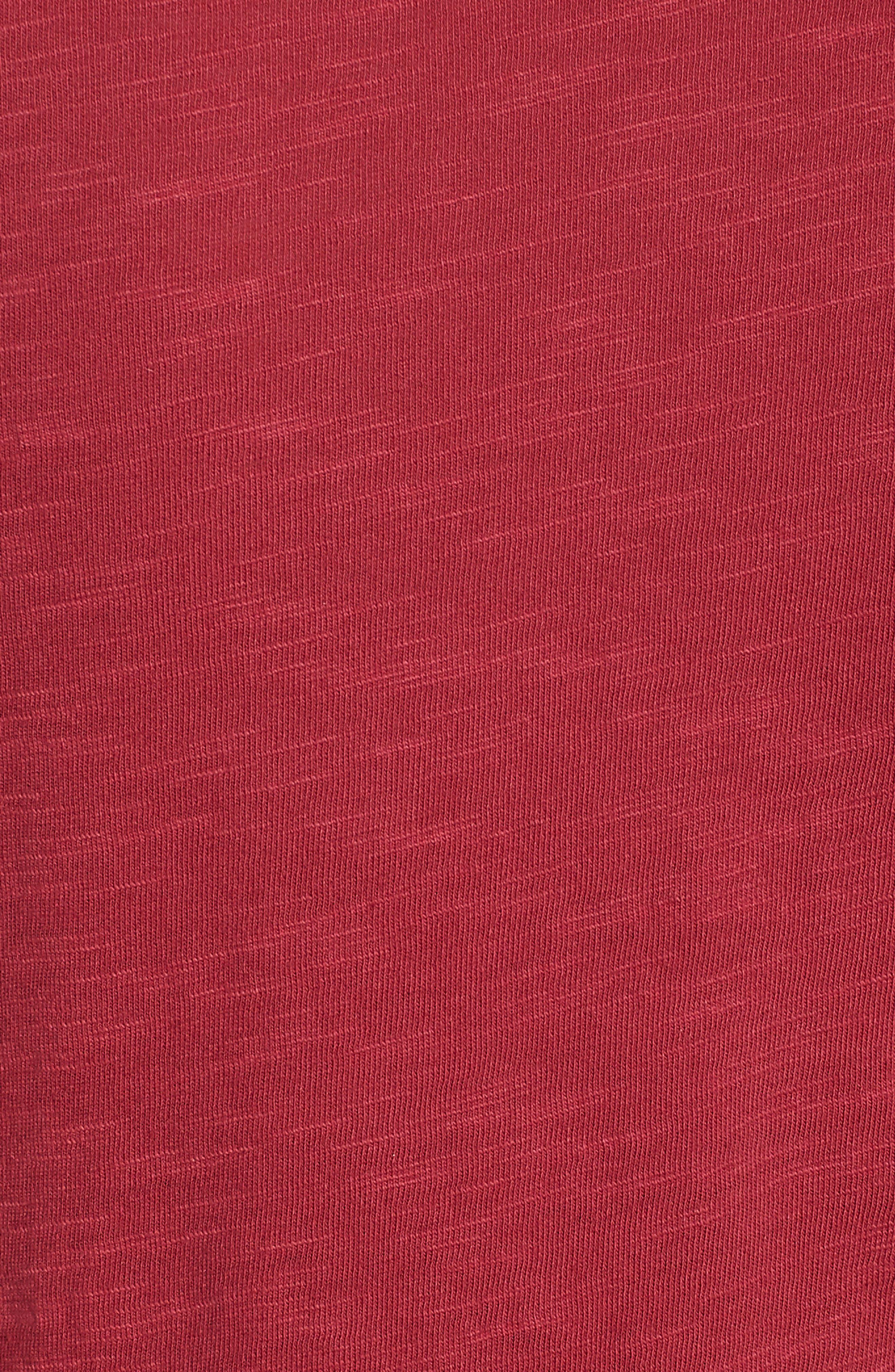 Lace-Up Shoulder Cotton Tee,                             Alternate thumbnail 11, color,