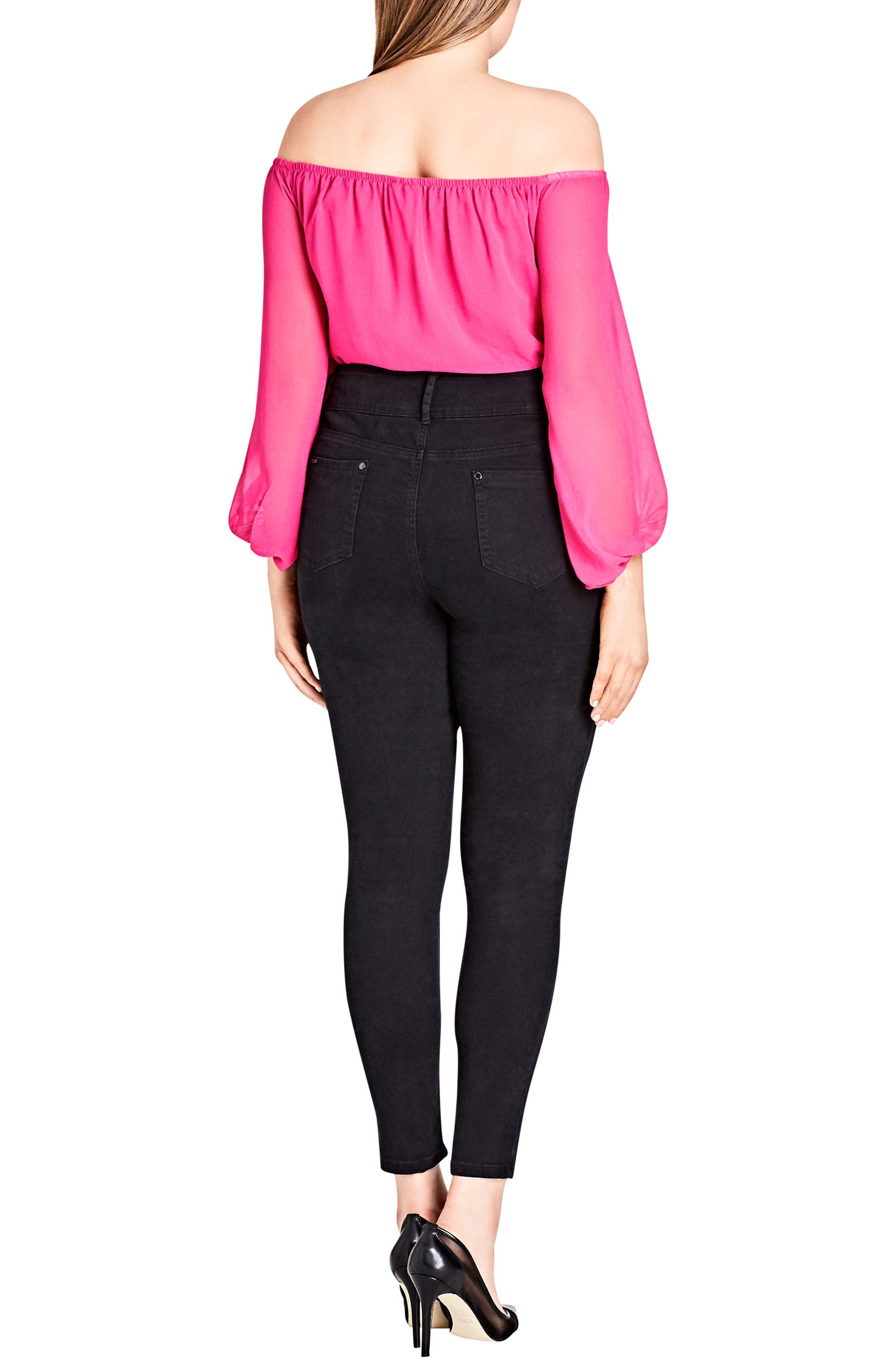 Asha Ripped Skinny Jeans,                             Alternate thumbnail 3, color,                             001