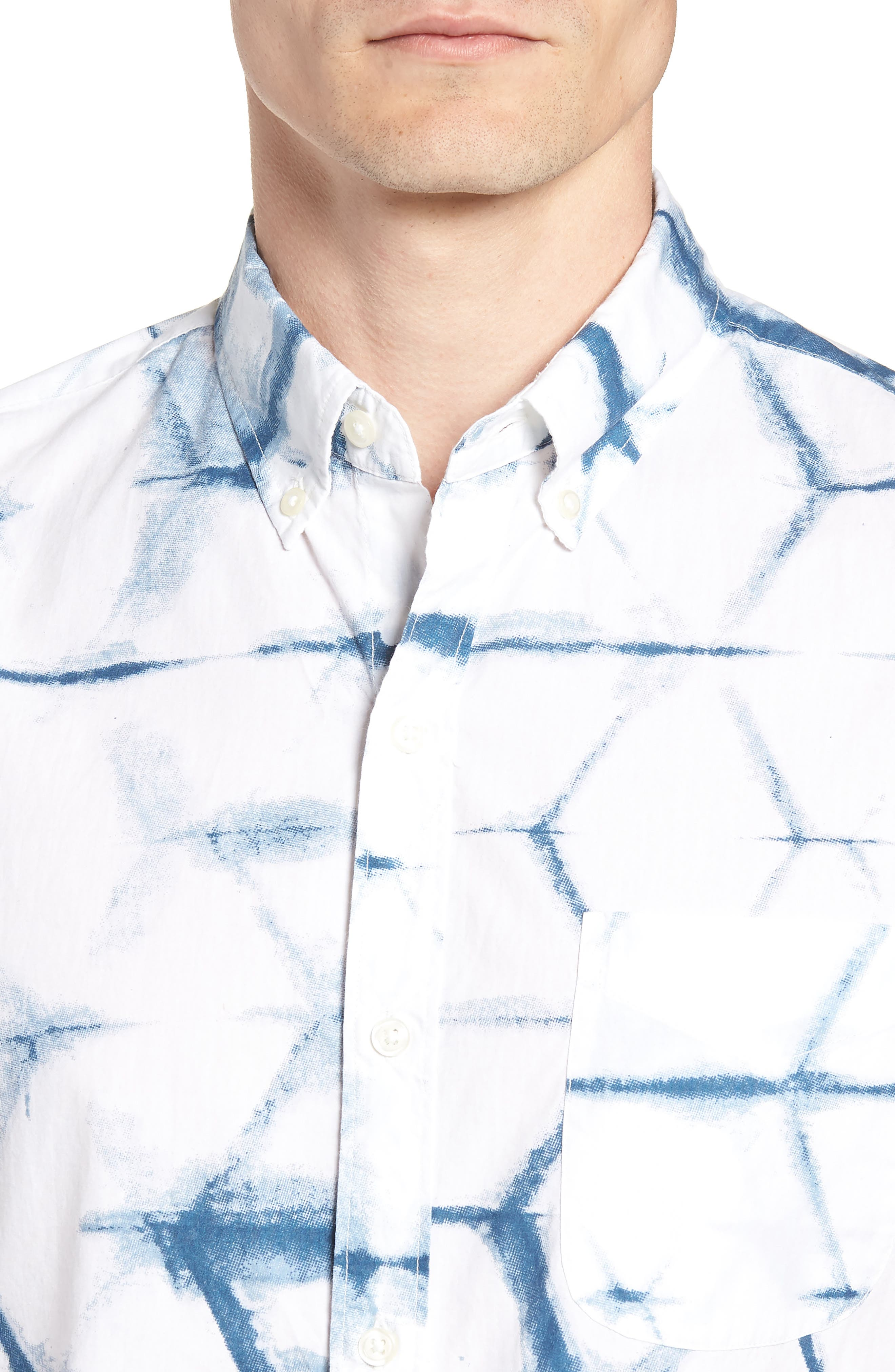 Riviera Slim Fit Print Sport Shirt,                             Alternate thumbnail 2, color,
