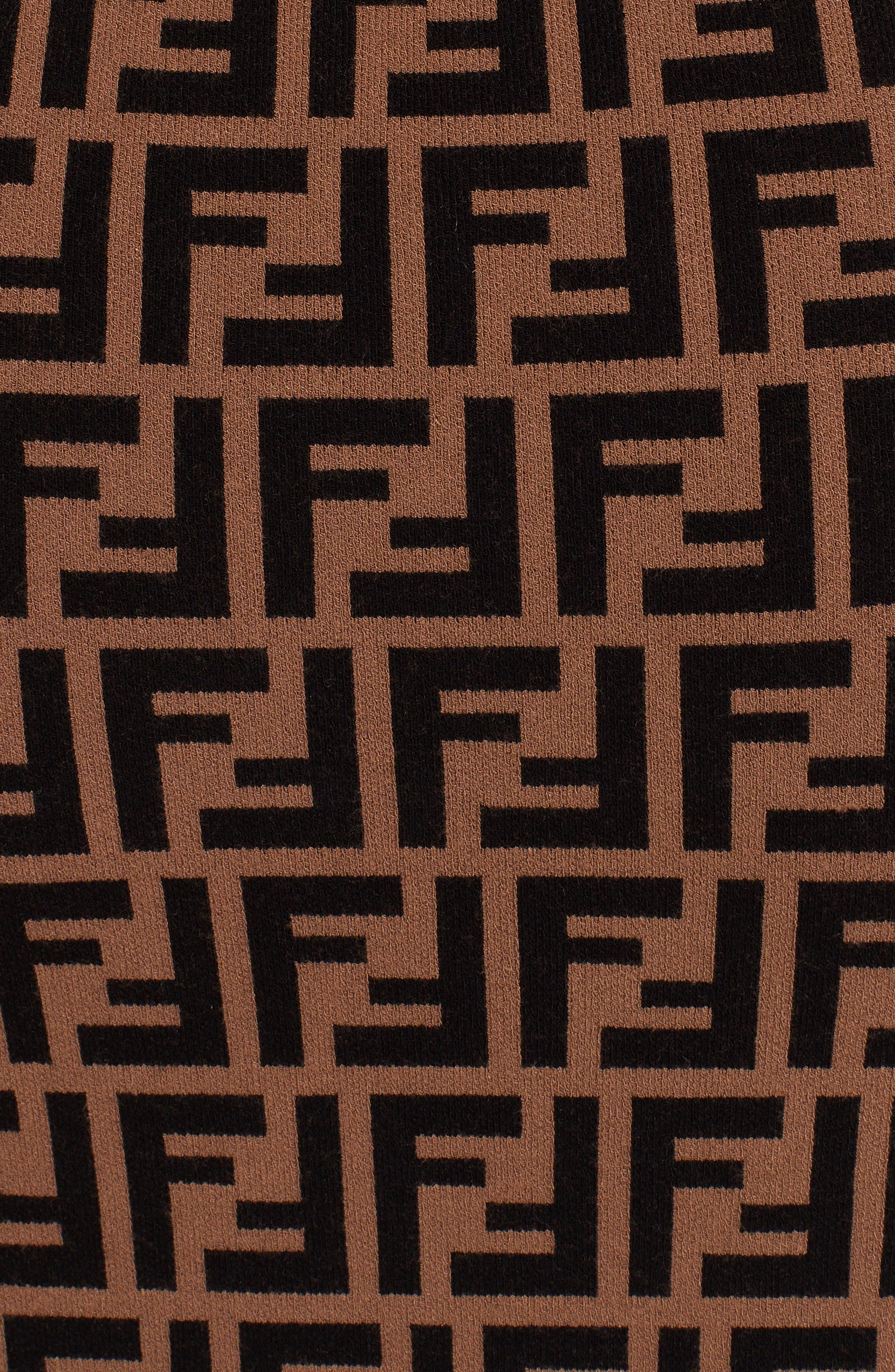 FF Logo Knit Dress,                             Alternate thumbnail 5, color,                             230