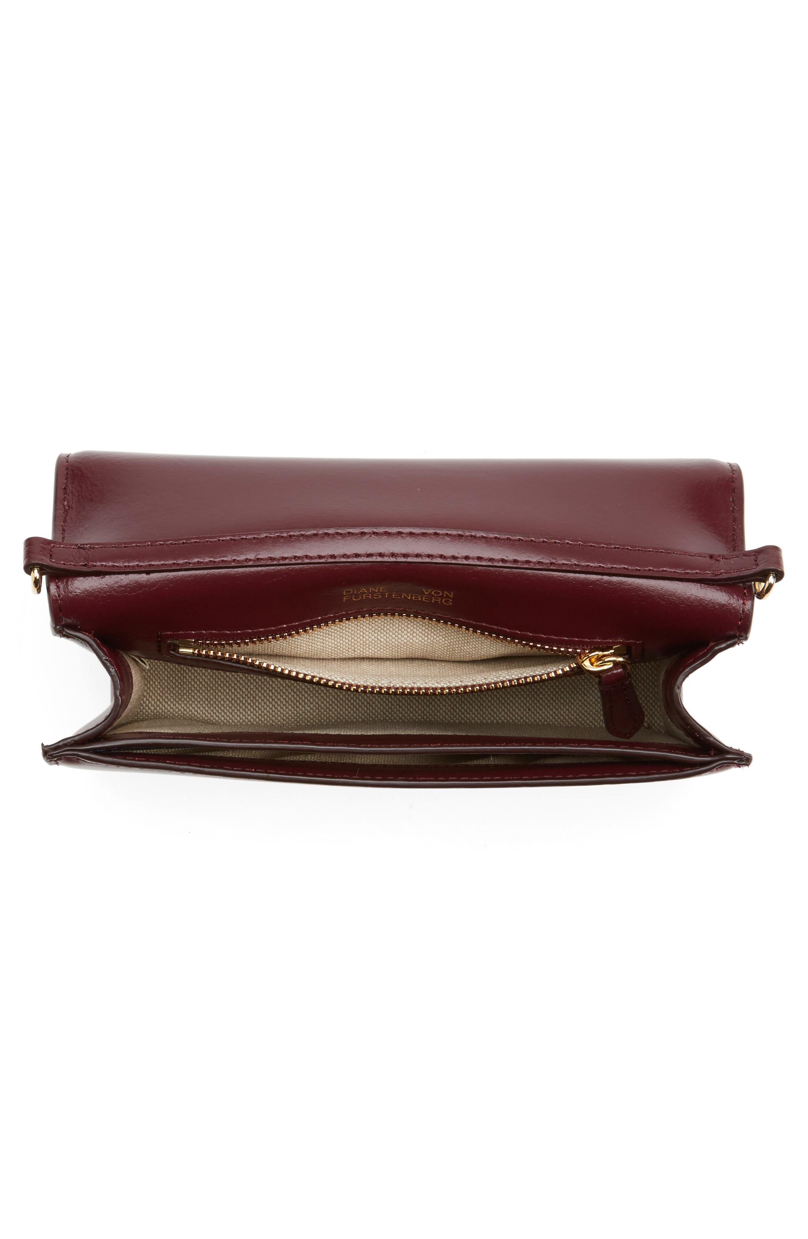 Soirée Leather Convertible Crossbody Bag,                             Alternate thumbnail 15, color,