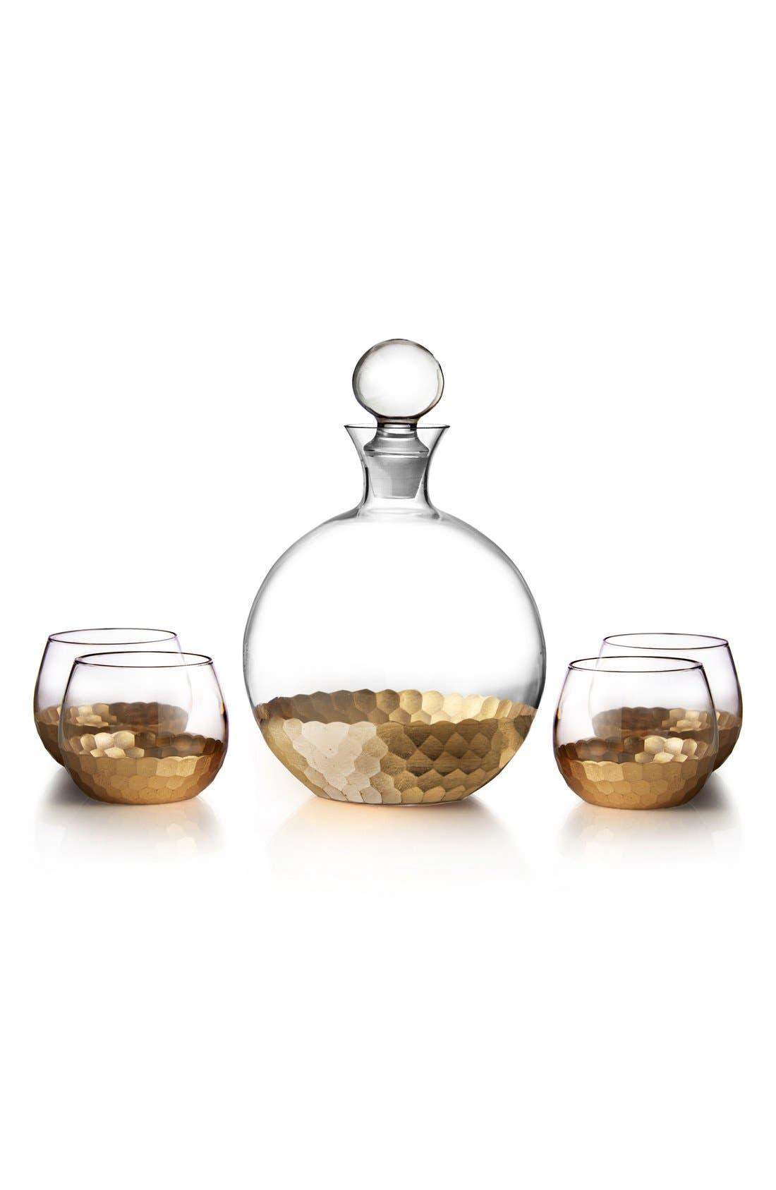 'Daphne' Decanter & Whiskey Glasses,                             Main thumbnail 1, color,                             711