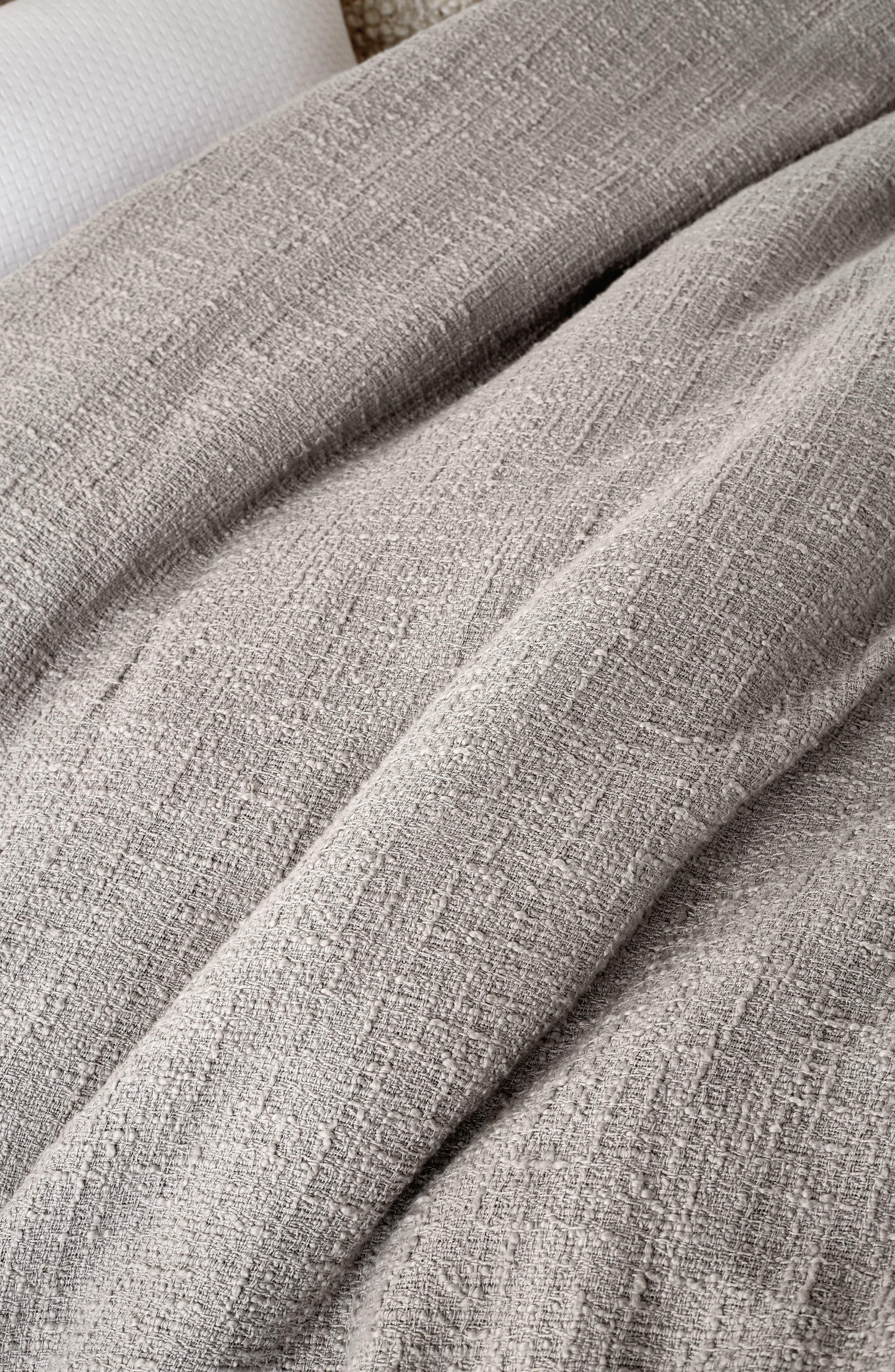 DKNY,                             Pure Texture Duvet Cover,                             Alternate thumbnail 2, color,                             GREY