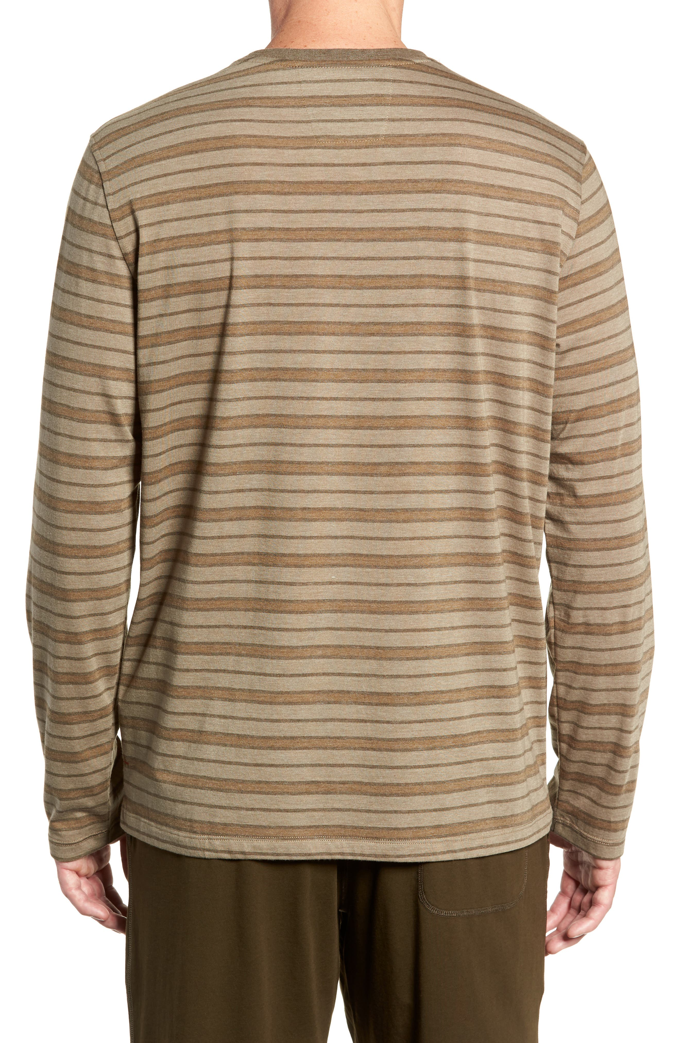 Stripe Cotton Blend Long Sleeve T-Shirt,                             Alternate thumbnail 2, color,                             ARMY
