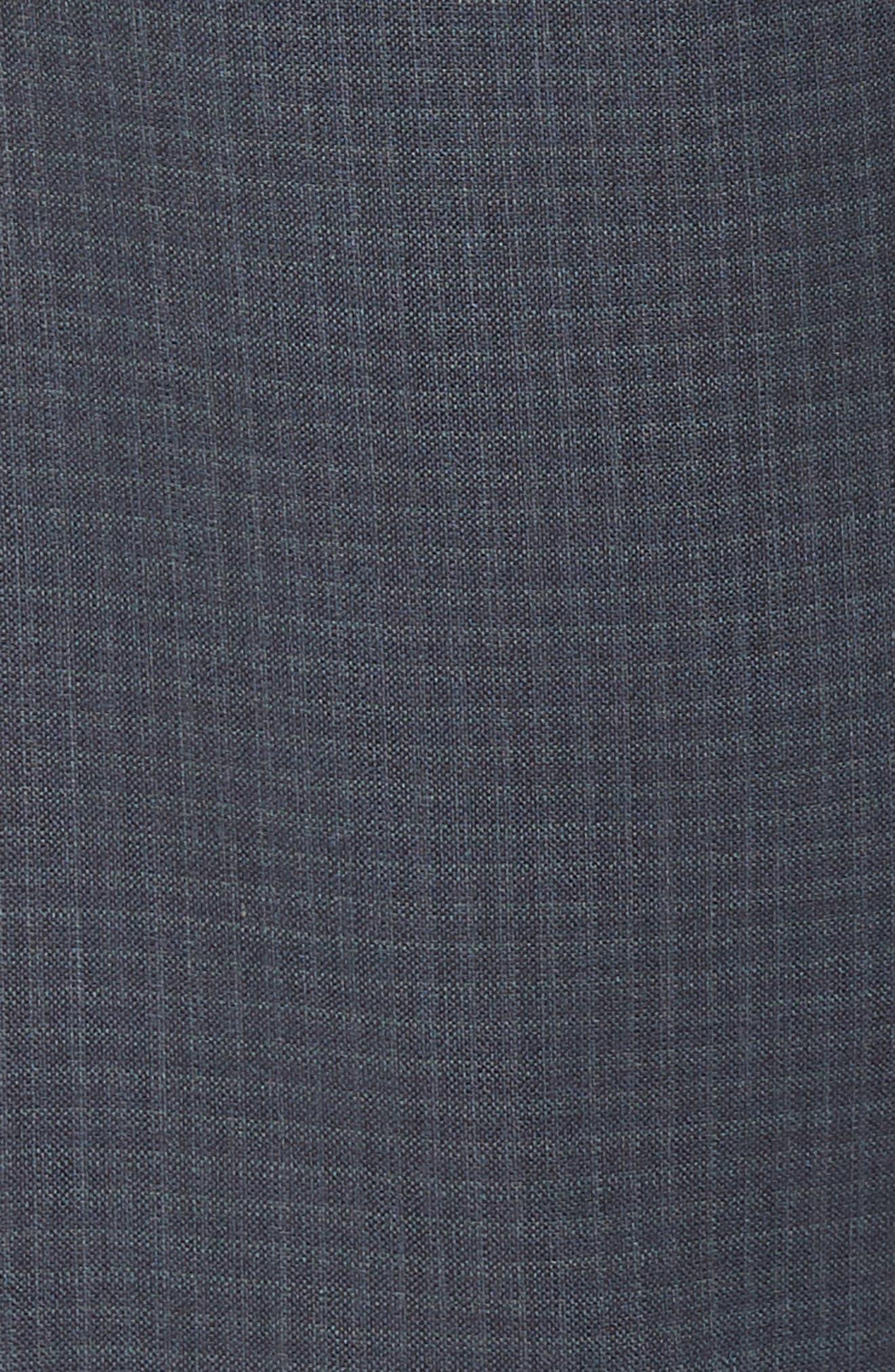 Tech-Smart Check Flat Front Stretch Wool Pants,                             Alternate thumbnail 2, color,                             030