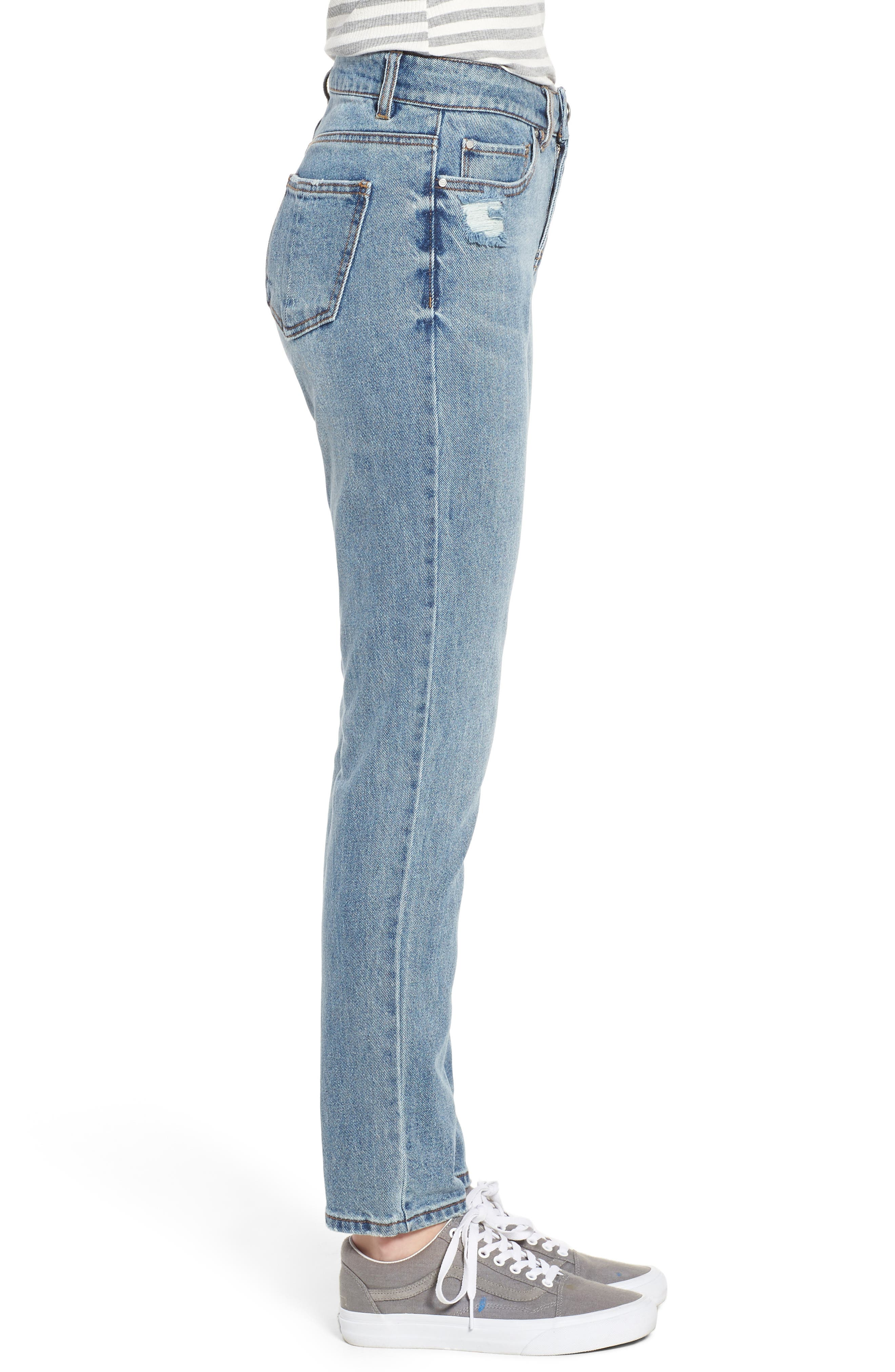 High Waist Skinny Jeans,                             Alternate thumbnail 3, color,                             468