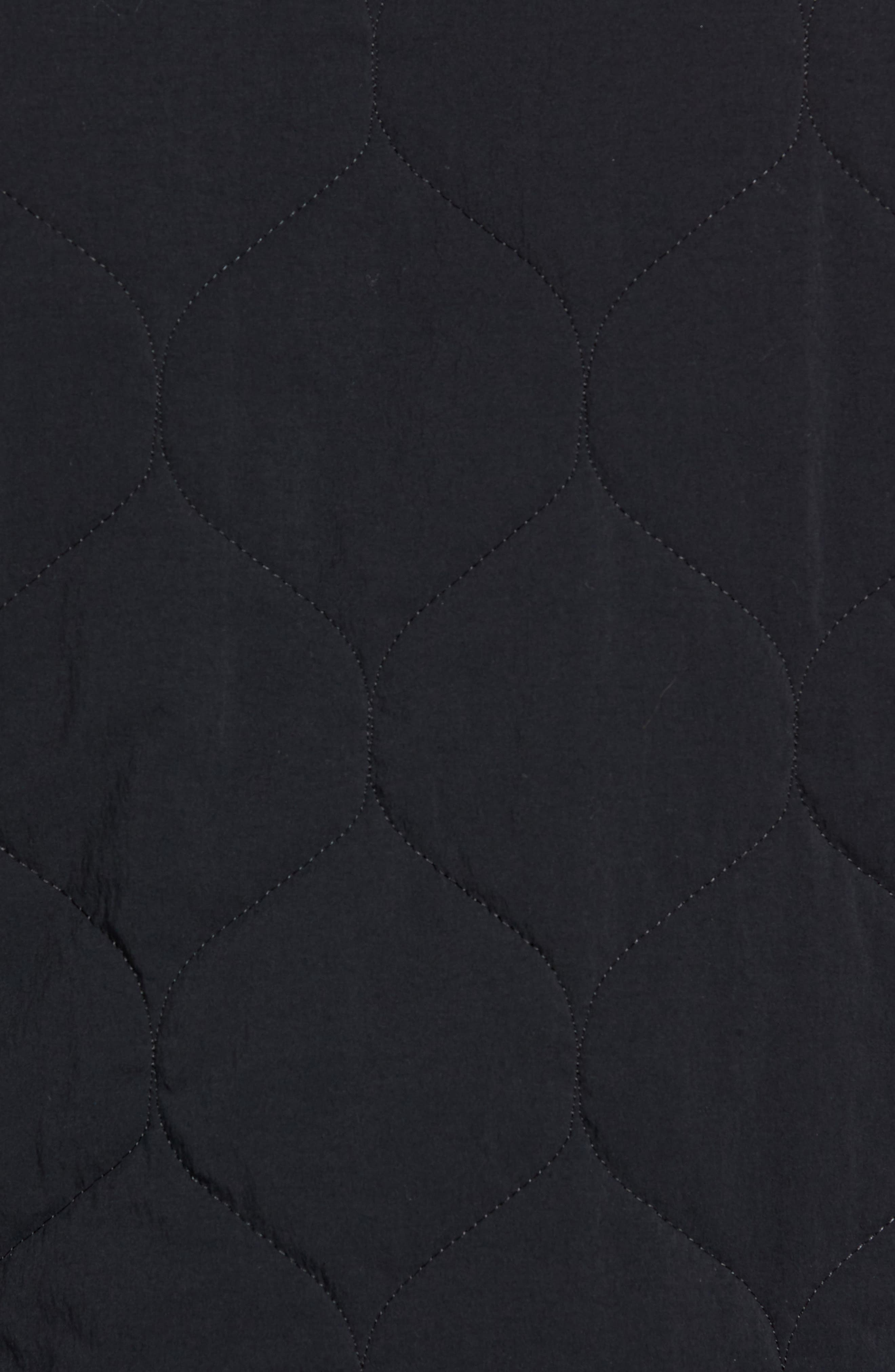 Reversible Bomber Jacket,                             Alternate thumbnail 7, color,                             BLACK