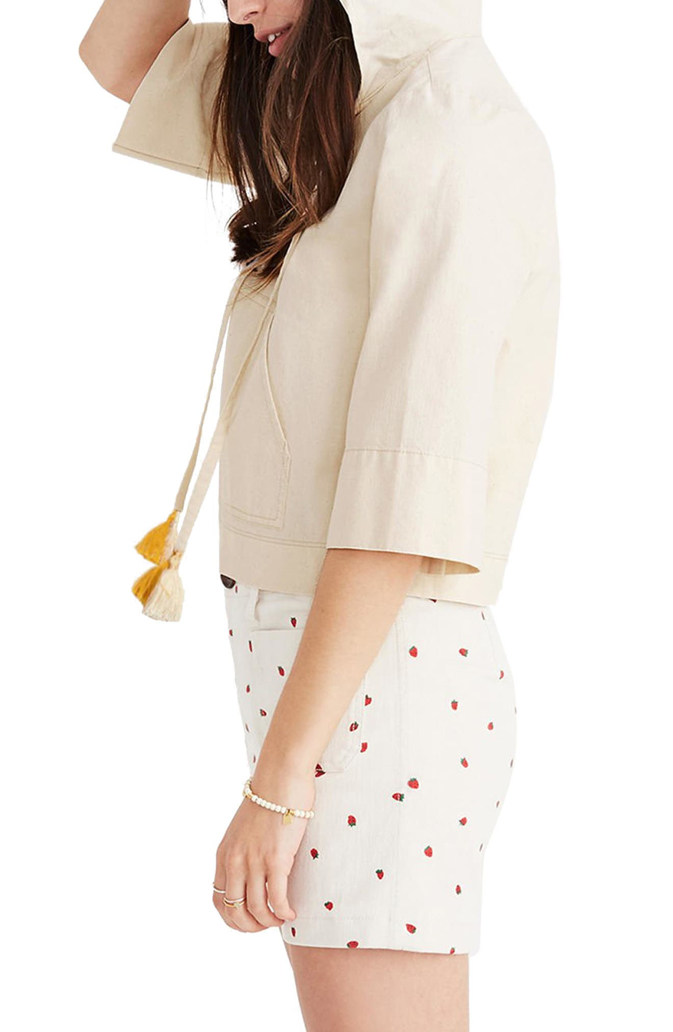 MADEWELL,                             Hooded Popover Top,                             Main thumbnail 1, color,                             100
